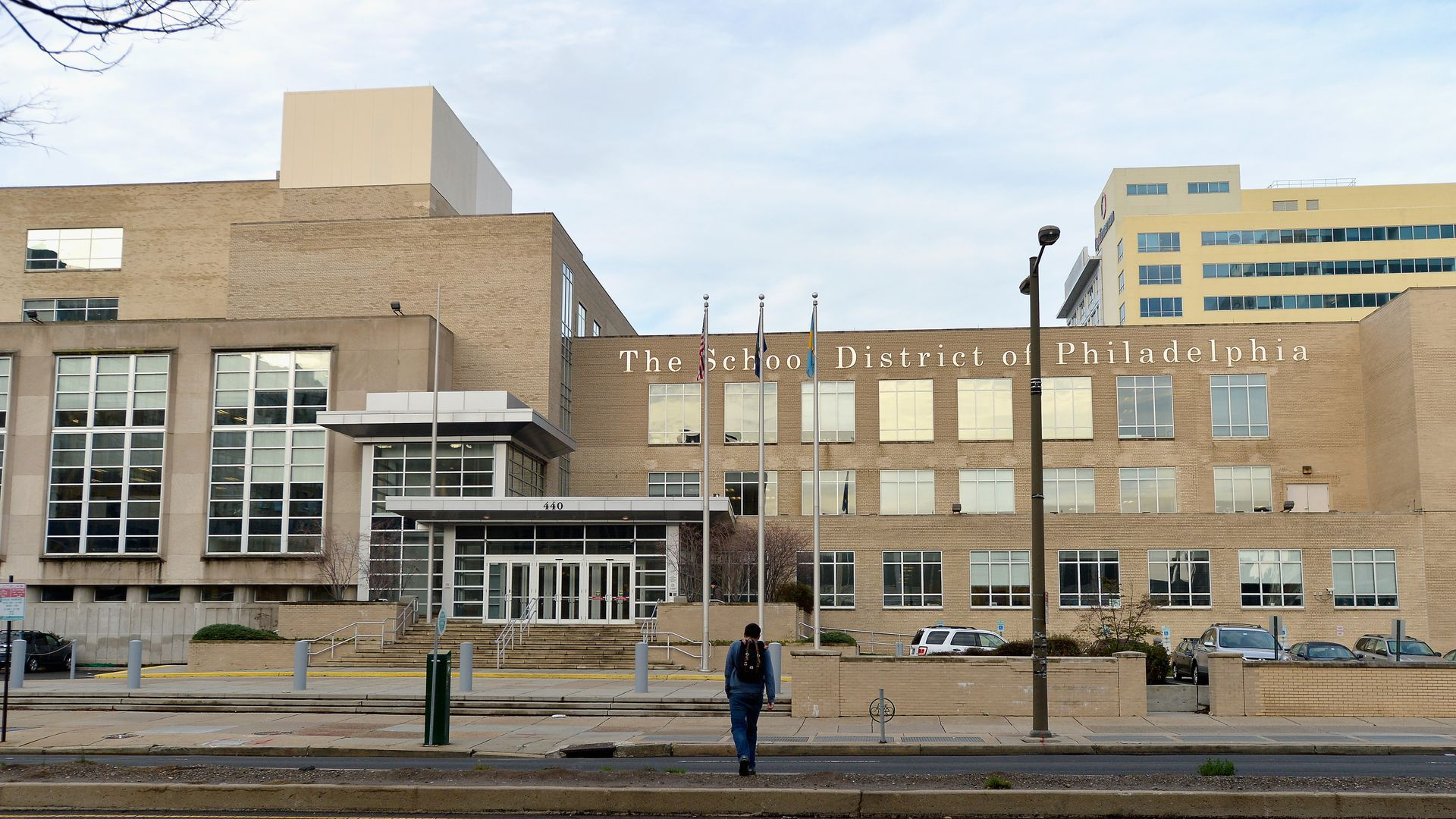 A general view of the School District of Philadelphia offices on December 31, 2015. Photo by Paul Marotta/Getty Images