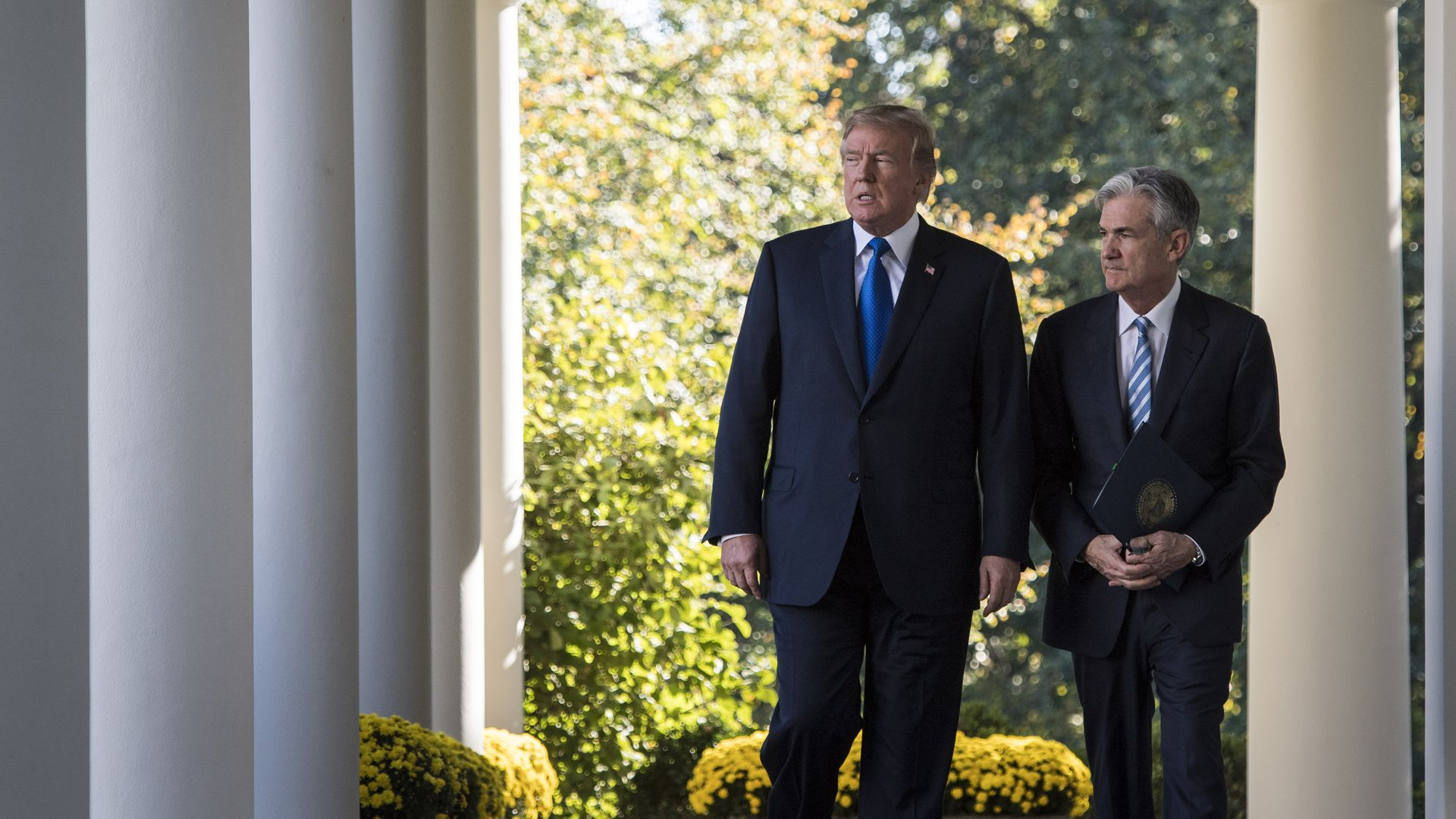 Trump walks out with Fed's Jerome Powell to announce him as his nominee for the next chair of the Federal Reserve in the Rose Garden