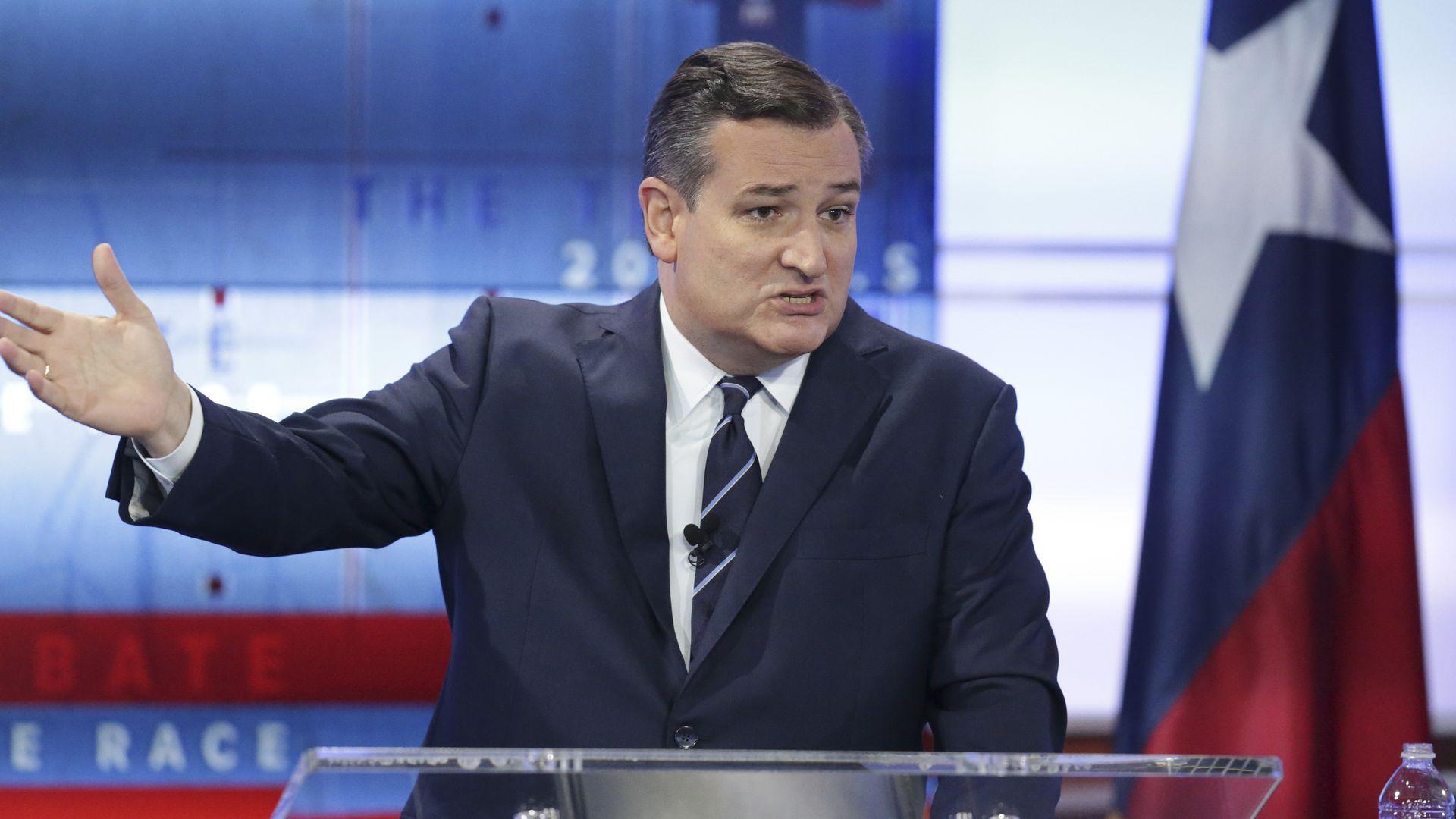 Ted Cruz during a debate