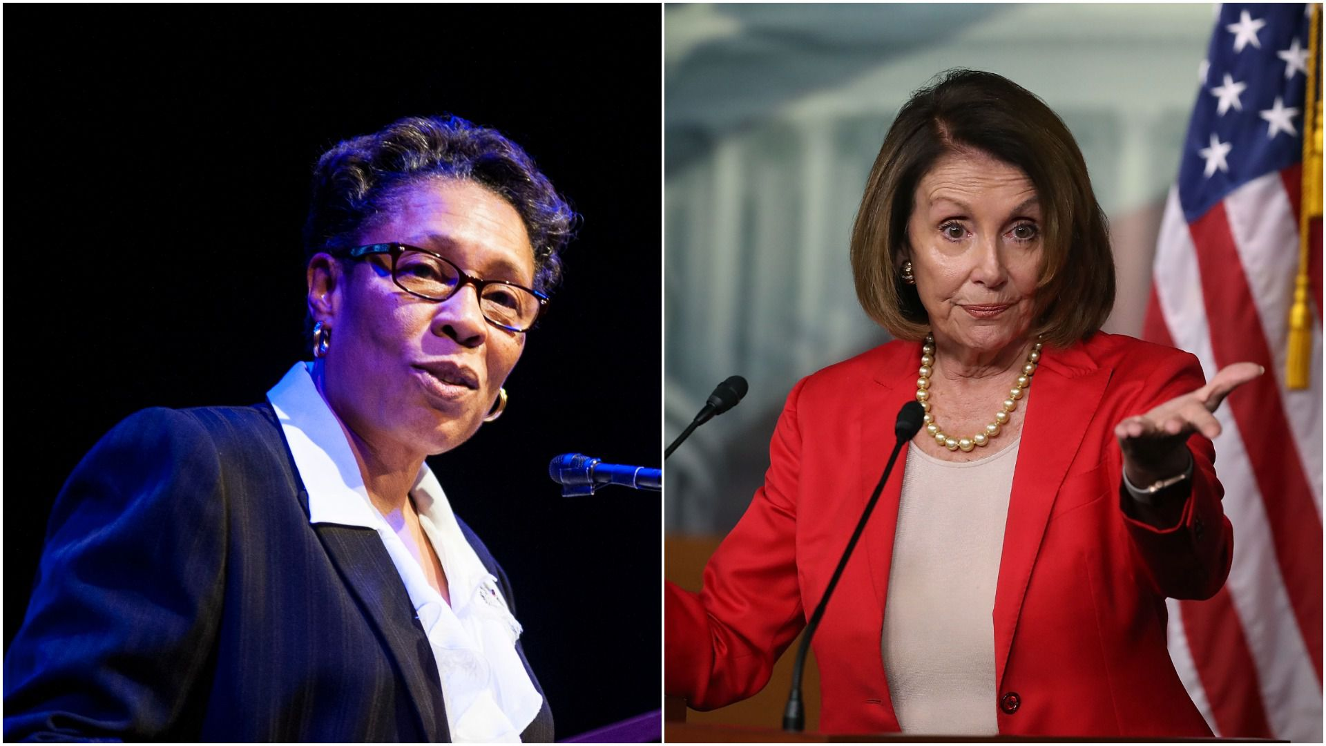 Marcia Fudge and House Minority Leader Nancy Pelosi