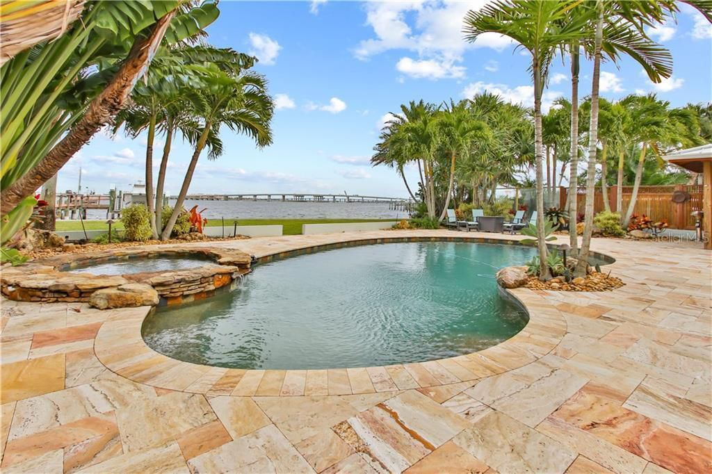 1710 Point Pleasant Ave W pool and water view