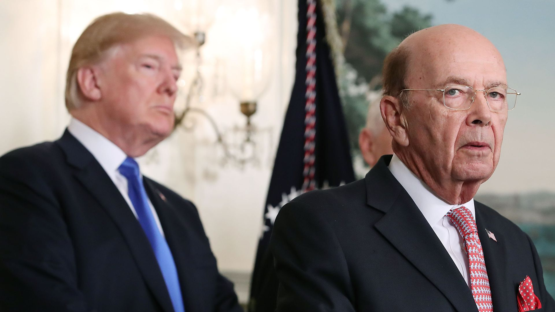 Commerce Secretary Wilbur Ross and President Donald Trump.
