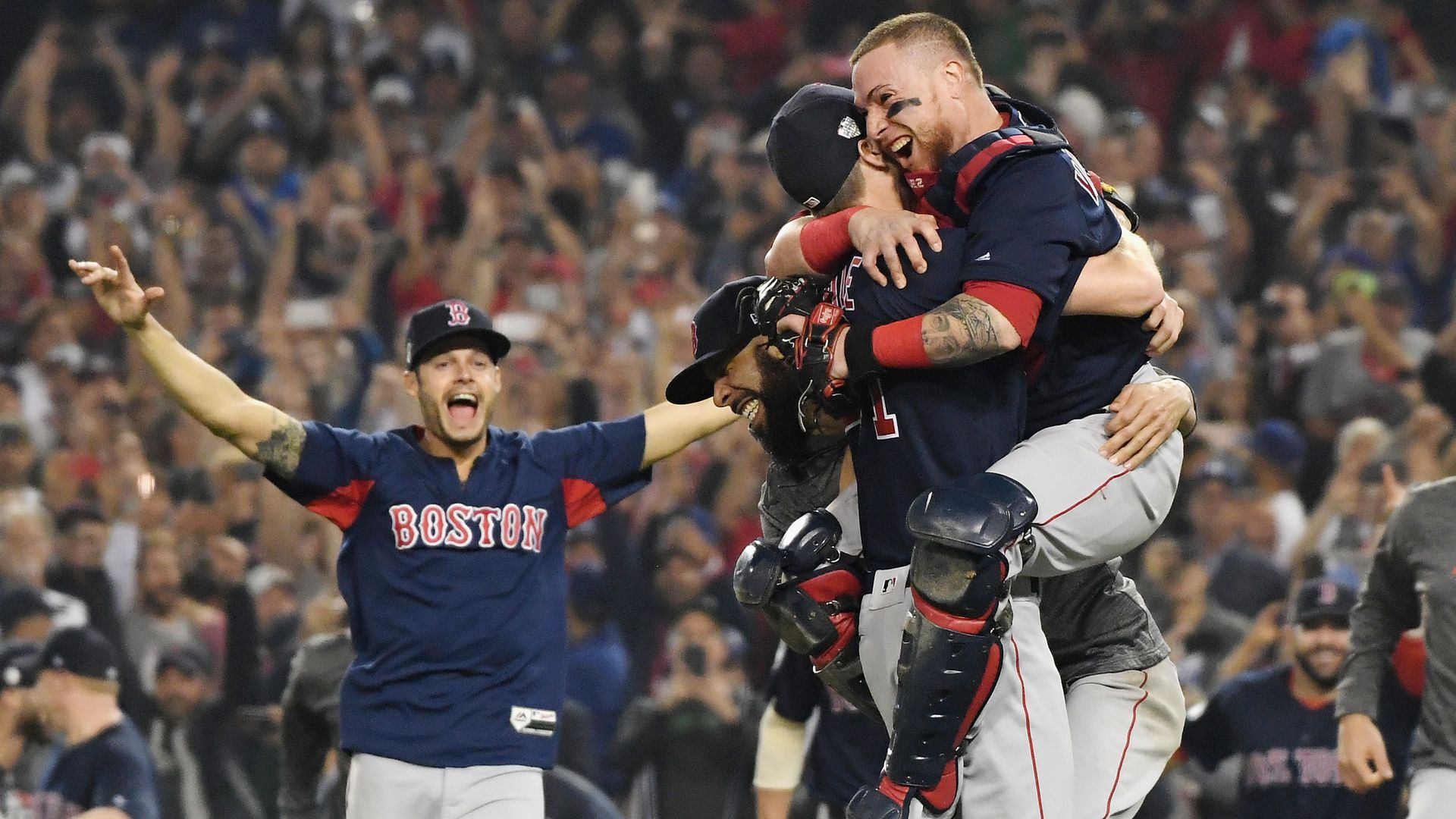 43d21737461 Red Sox players after winning the World Series