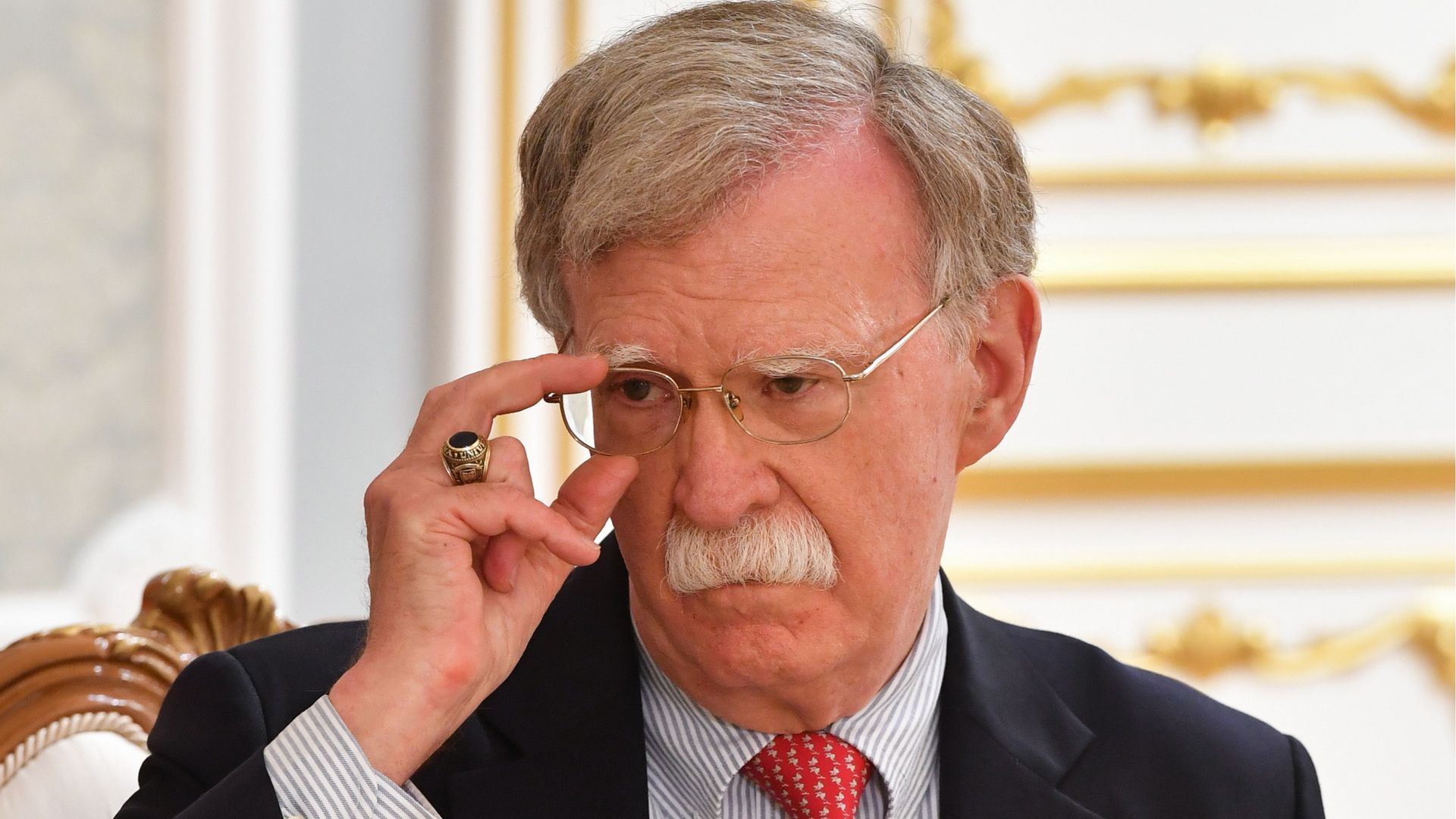 Then-national security advisor John Bolton during a meeting.