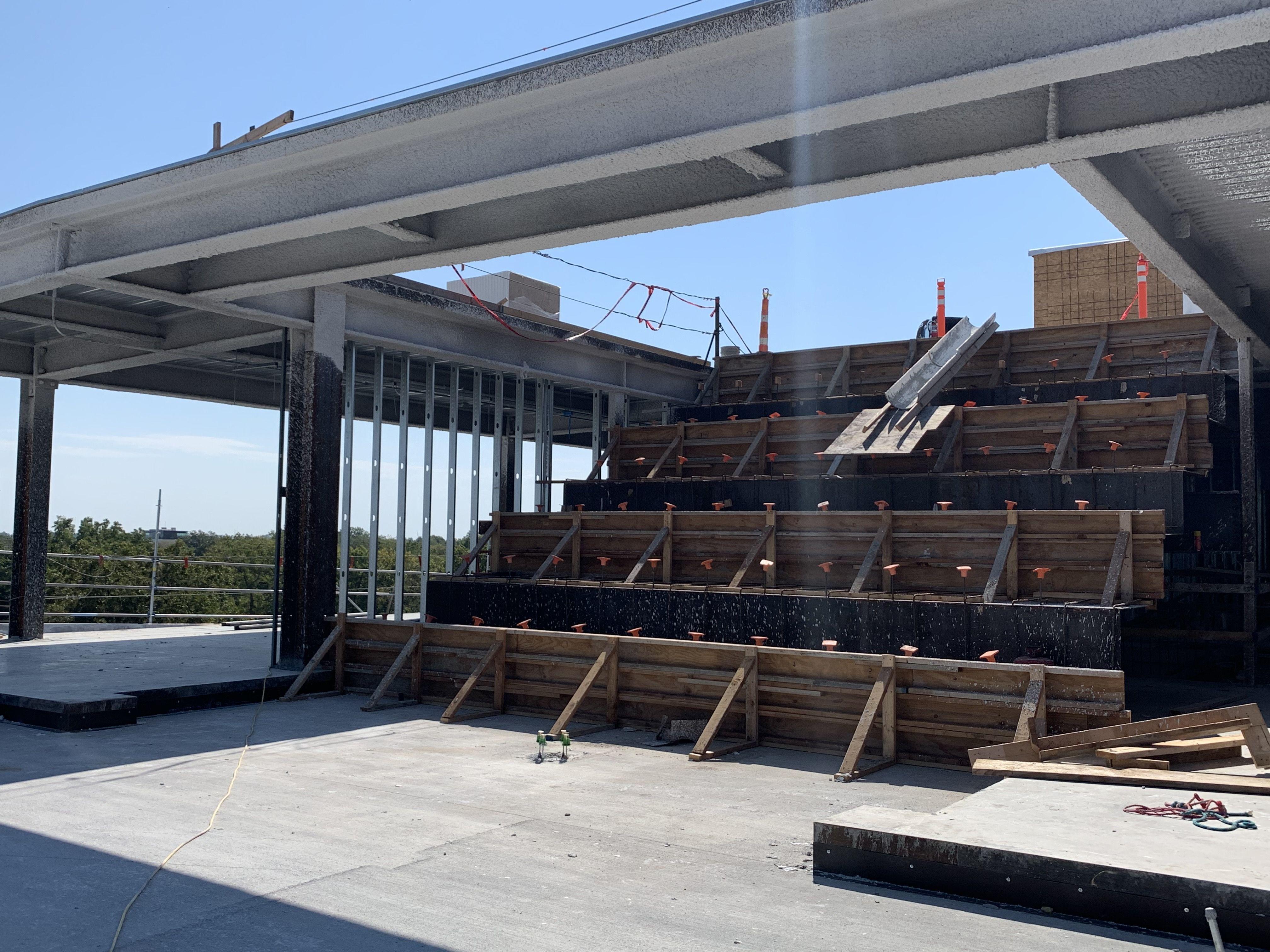 photo of stadium seating inside ledger