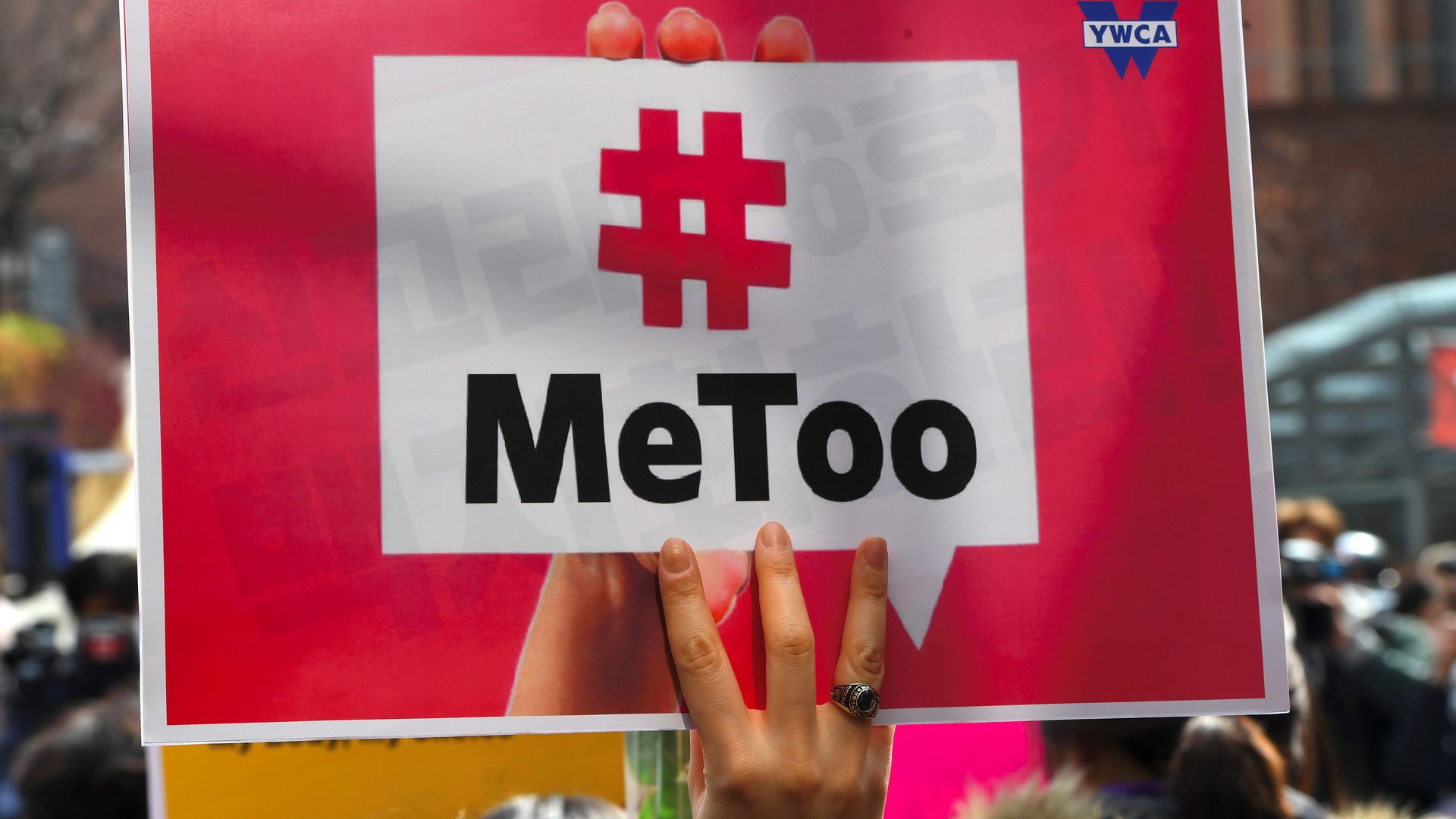 "A sign that reads ""#MeToo"""