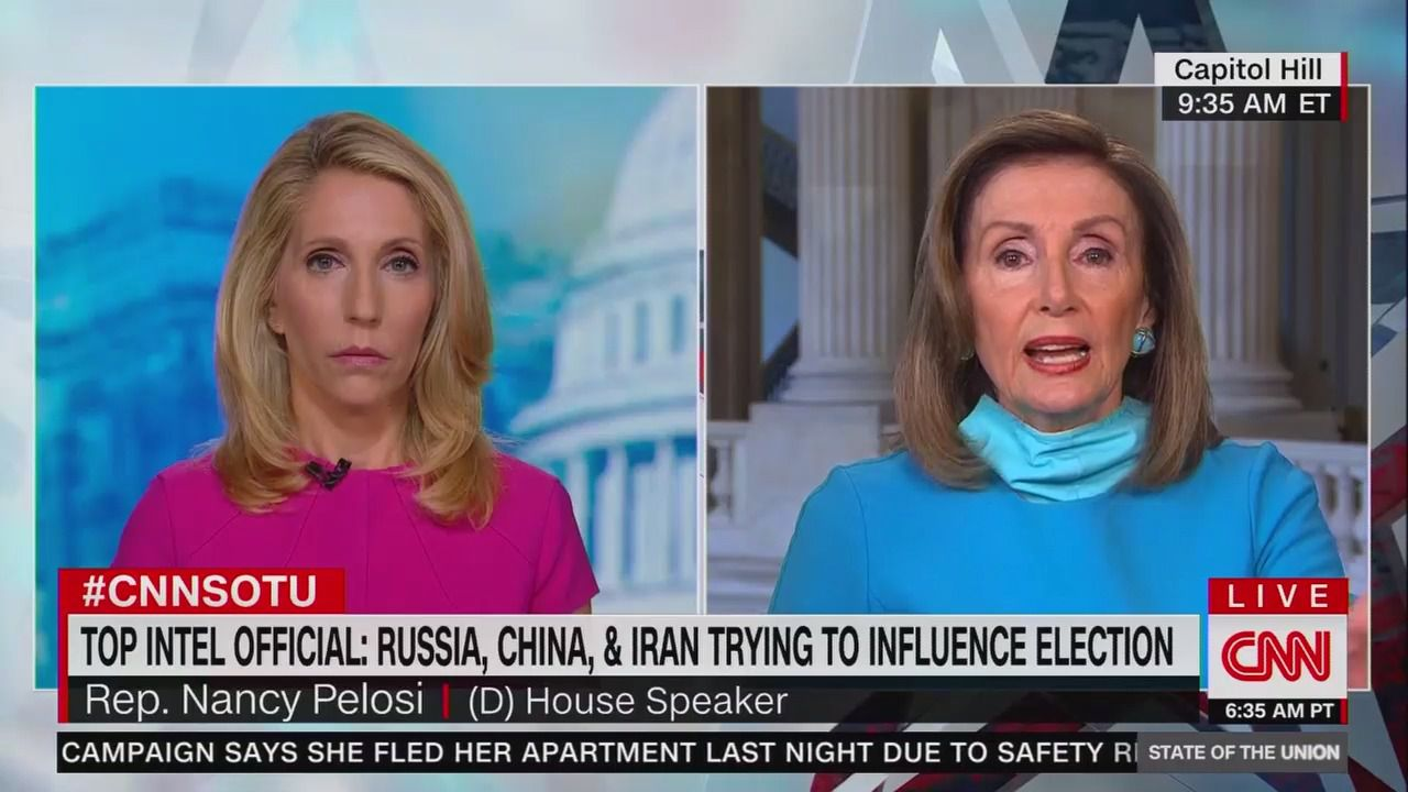 """Pelosi says election threats from China and Russia are """"not equivalent"""""""