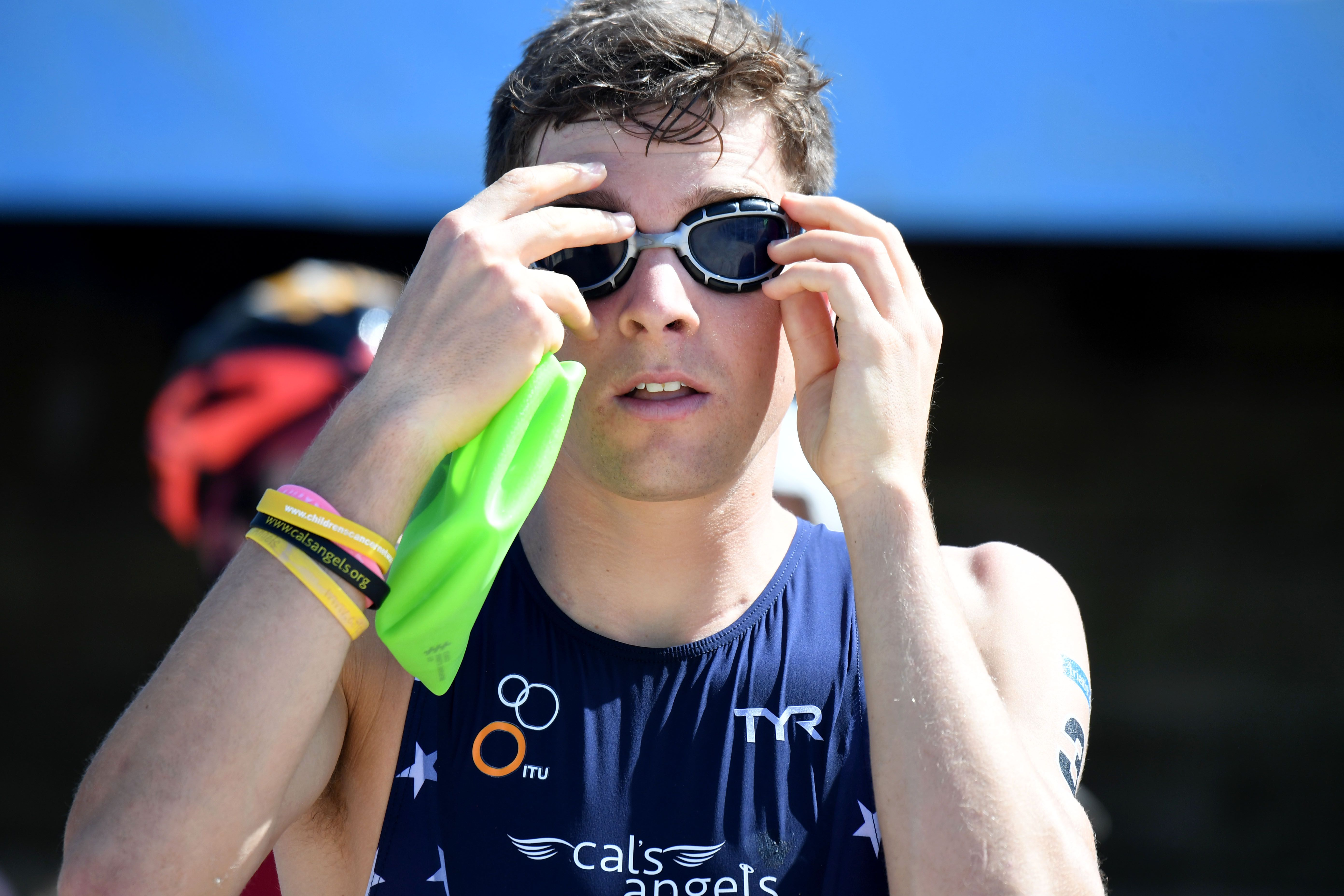 Kevin McDowell at the ITU World Cup Triathlon in 2017 in Australia. Photo: Delly Carr/Getty Images