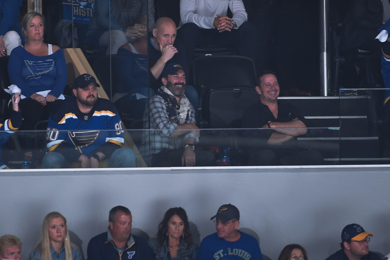 Jon Hamm in the crowd