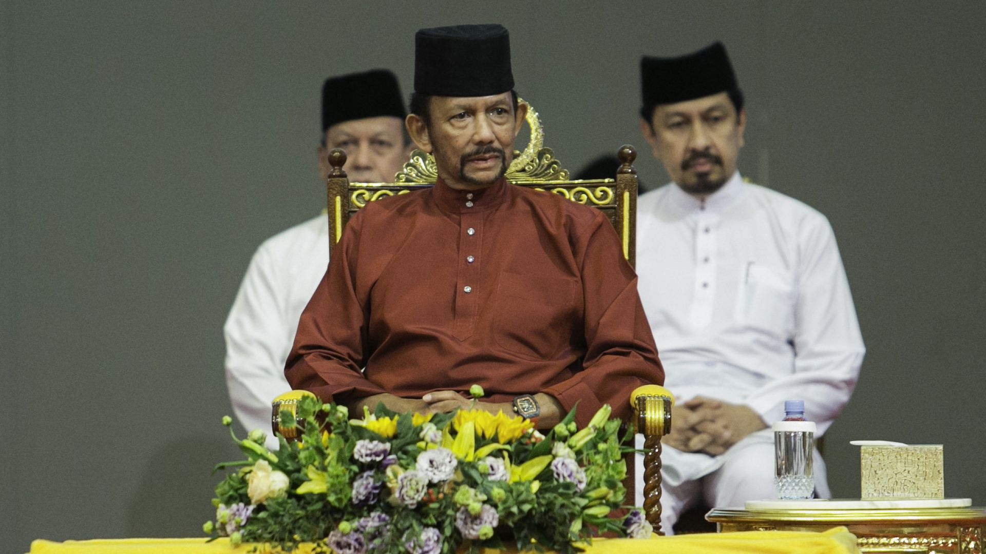 "Sultan Hassanal Bolkiah called for ""stronger"" Islamic teachings as the anti-gay law came into effect Wednesday."