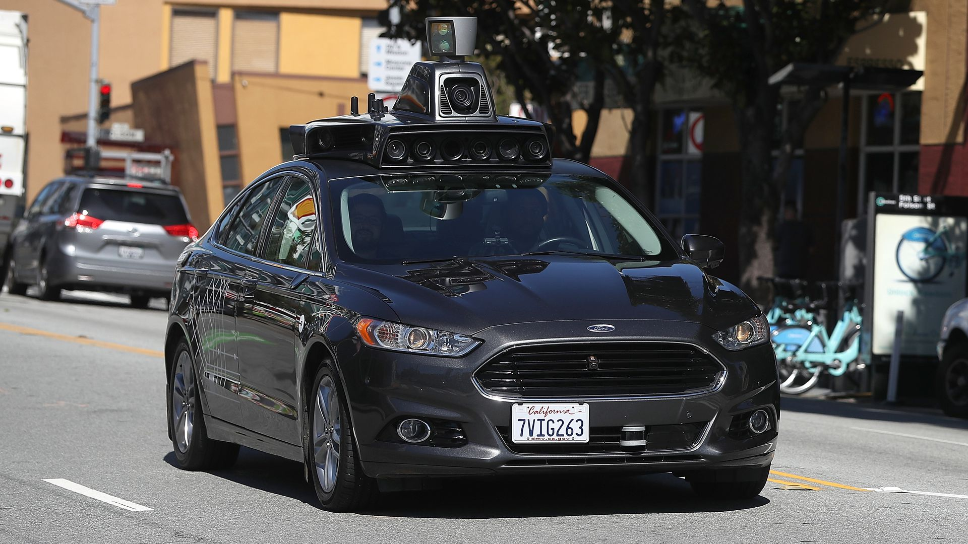 Image of Uber self-driving car