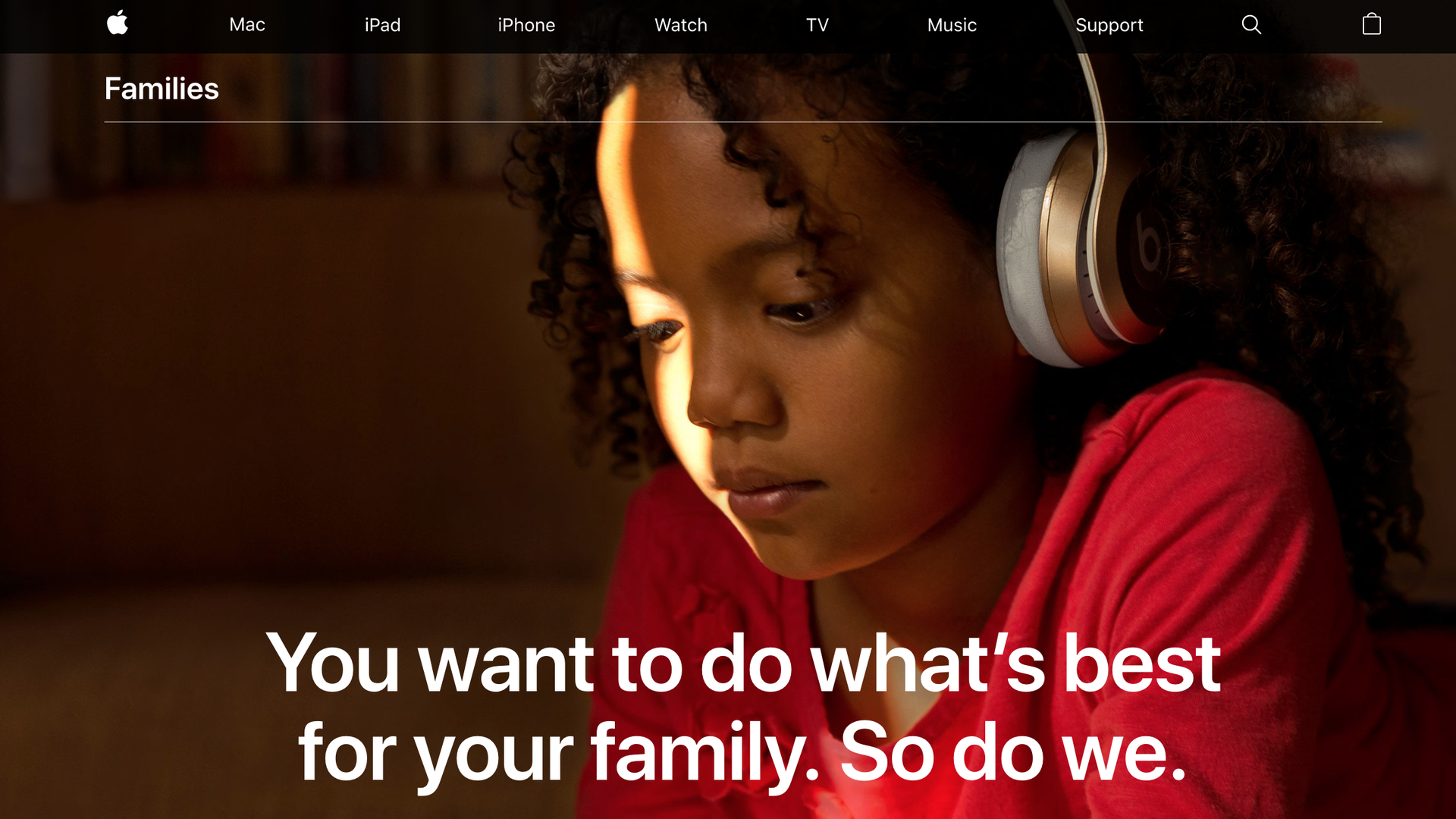 Apple's new Families page details its efforts to make devices parent friendly