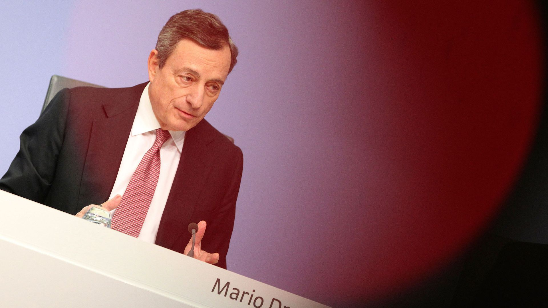 A photo of ECB President Mario Draghi
