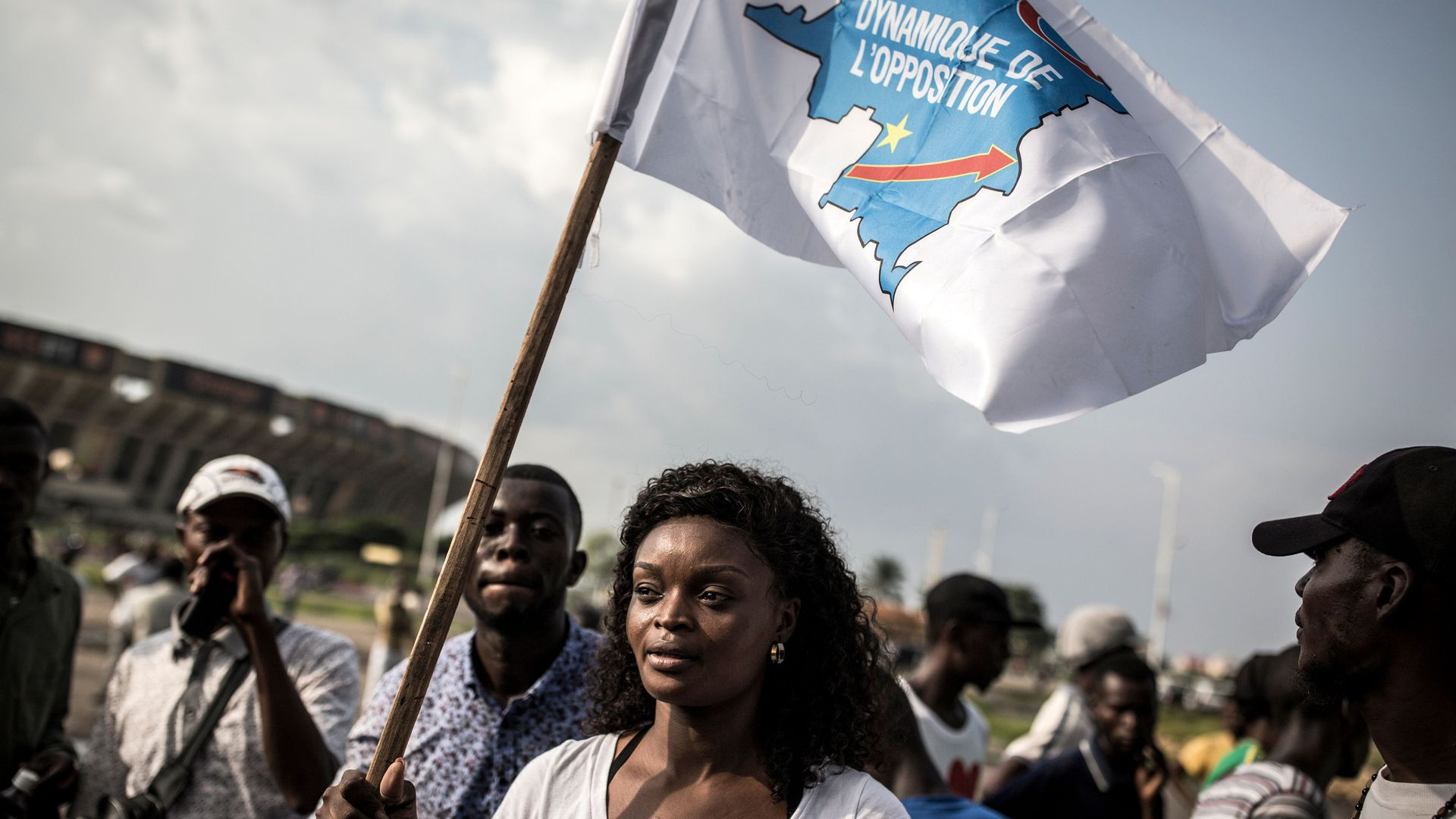 A supporter of Martin Fayulu, the runner up in the Democratic Republic of the Congo's elections, protests in Kinshasa, against the election of Felix Tshisekedi as president of the DRC.