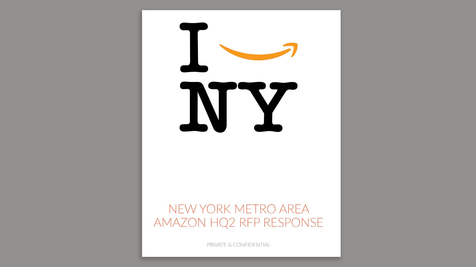 The cover of the NY pitch to Amazon