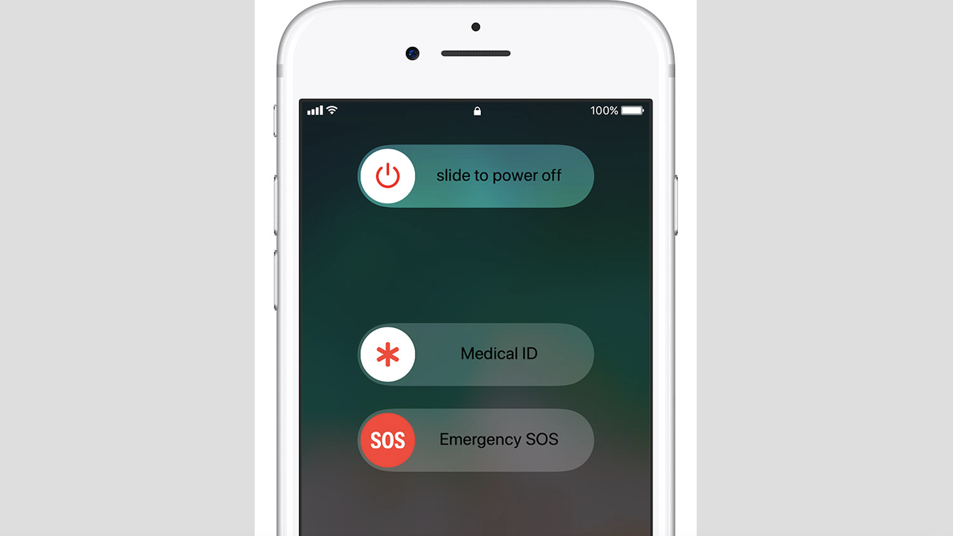 The emergency calling feature on an iPhone