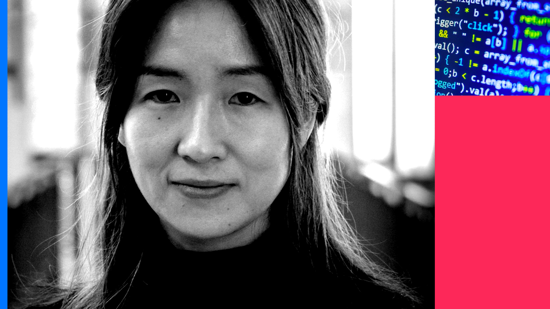 A photo of Yejin Choi from the University of Washington and the Allen Institute for Artificial Intelligence.