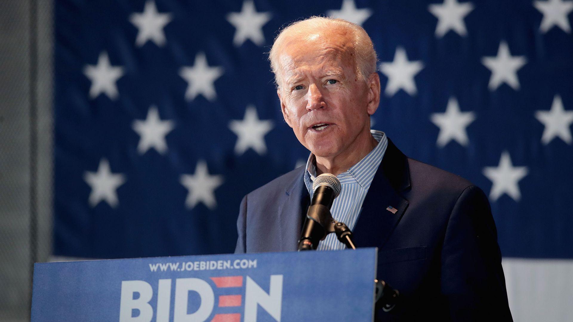 Former vice president turned 2020 presidential candidate Joe Biden