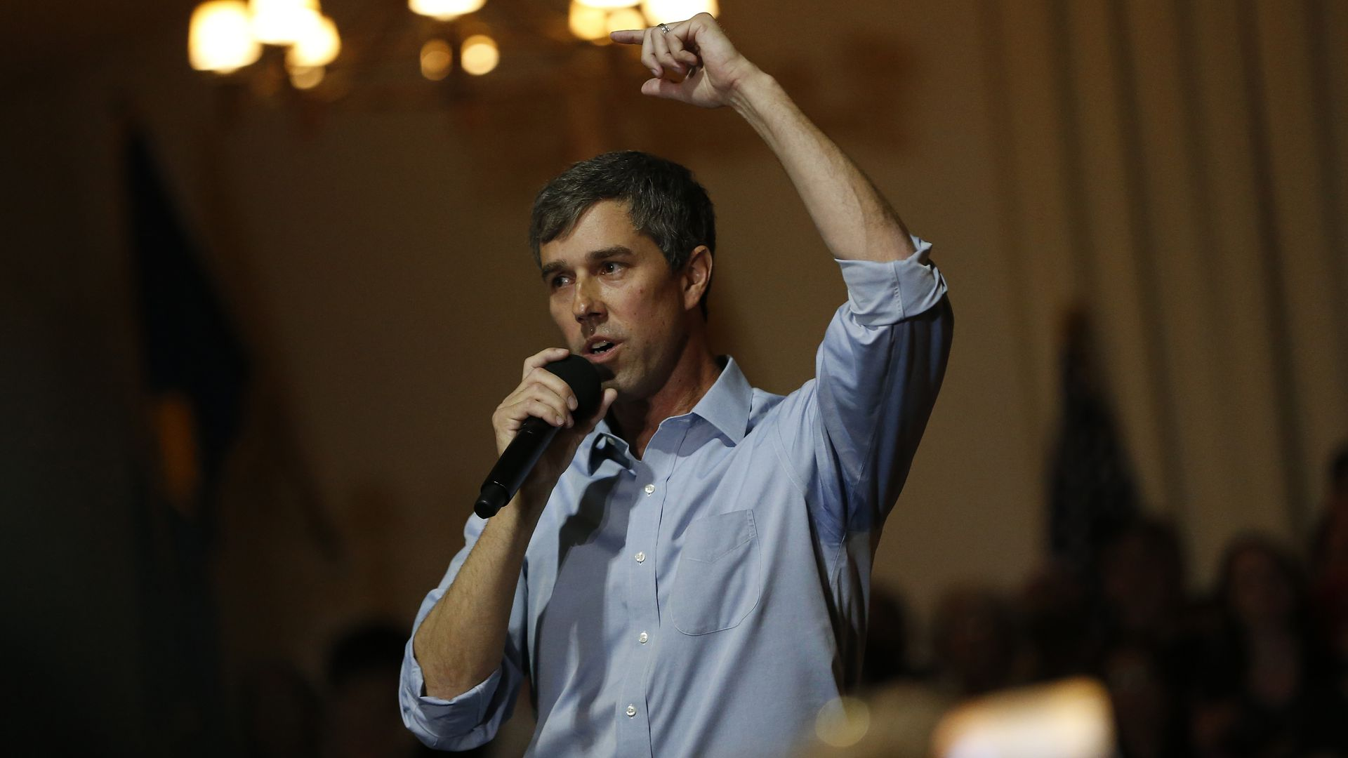 Democratic presidential candidate and former U.S. Rep. Beto O'Rourke (D-TX) speaks at a campaign town hall at the Irish Cultural Center on April 28, 2019 in San Francisco, California.