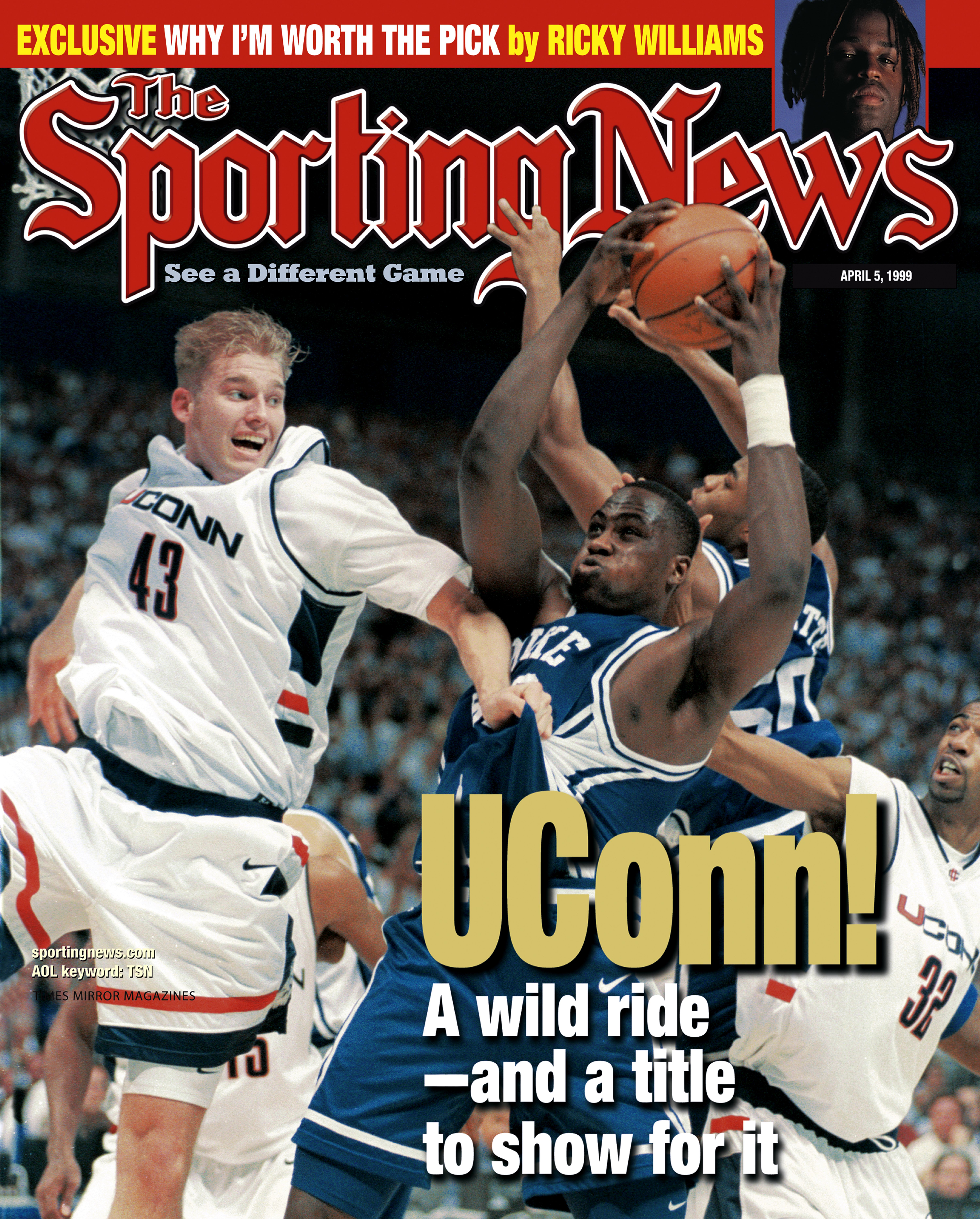 Sporting News magazine cover from 1999
