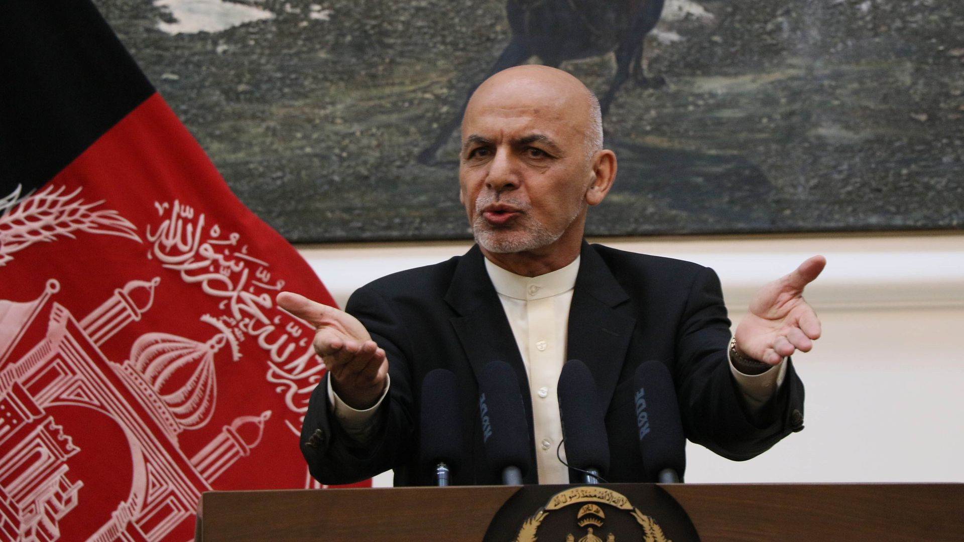 Afghan President Ashraf Ghani. Photo: Haroon Sabawoon/Anadolu Agency/Getty Images