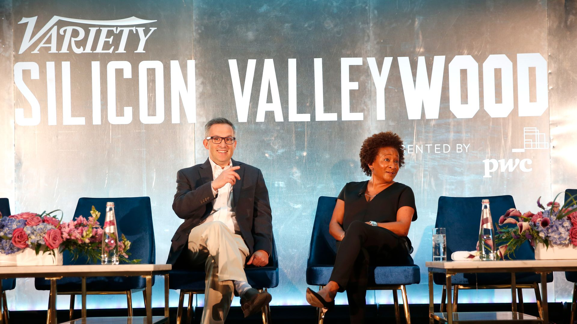 Photo of Co-Editor-In-Chief of Variety, Andrew Wallenstein and Actor, Producer & Comedian Wanda Sykes.