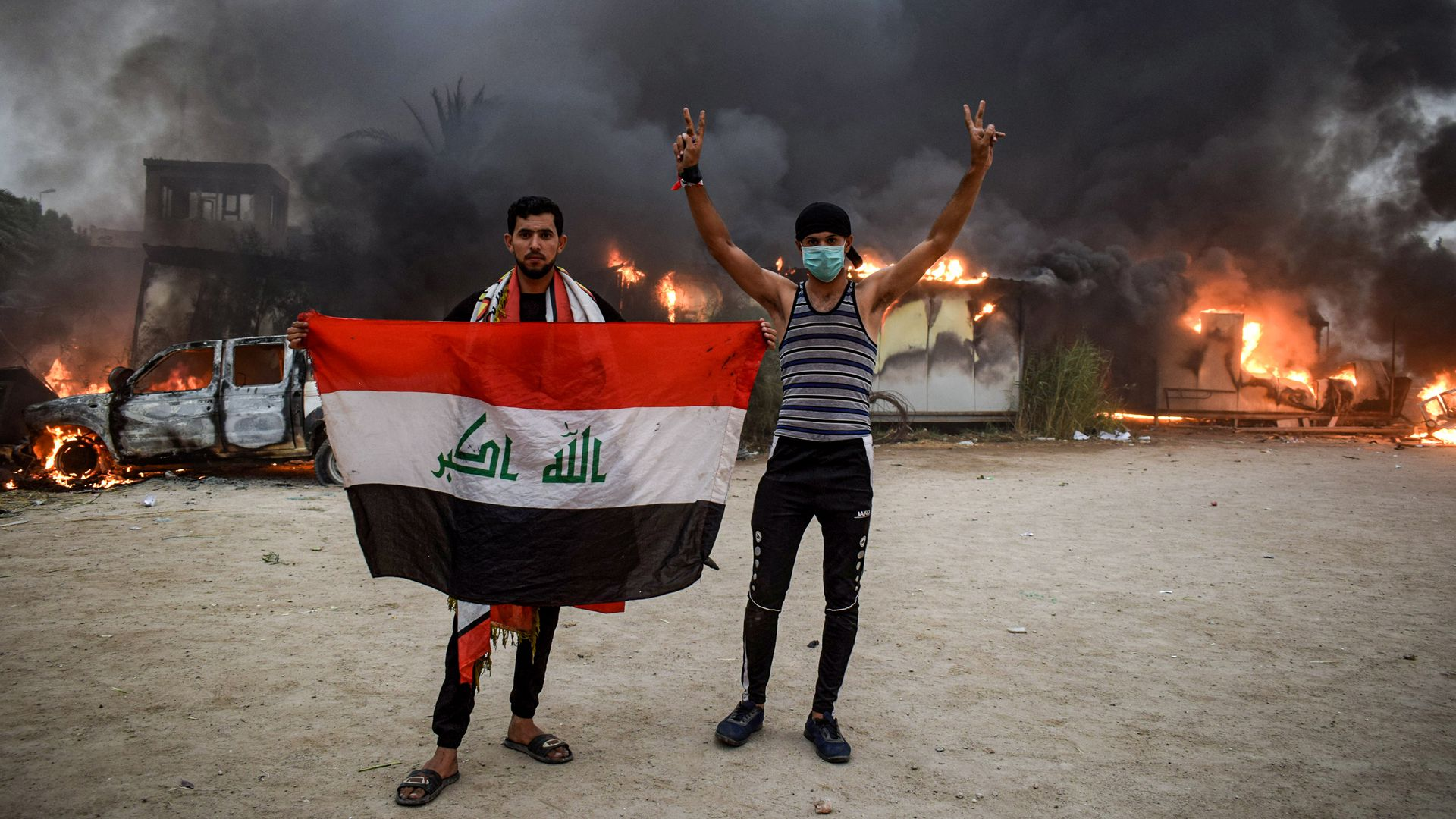 Protests burning in Iraq and Lebanon could singe Iran