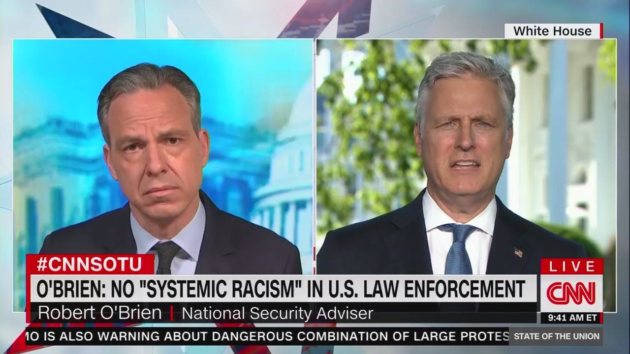 """Robert O'Brien: """"I don't think there's systemic racism"""" in law enforcement"""
