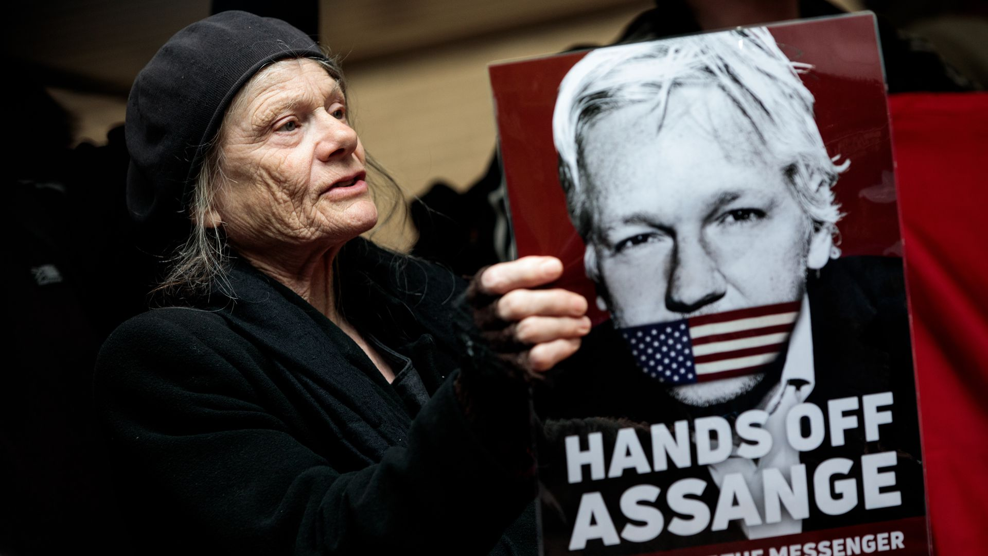 Protestors asking for Julian Assange to be freed