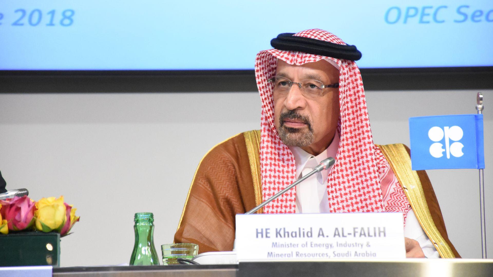 Saudi Arabian Energy Minister Khalid Al Falih.