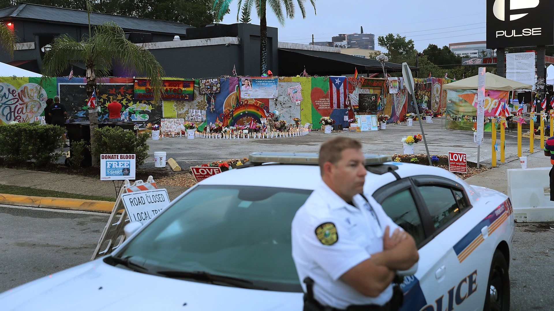 A police officer outside Pulse nightclub