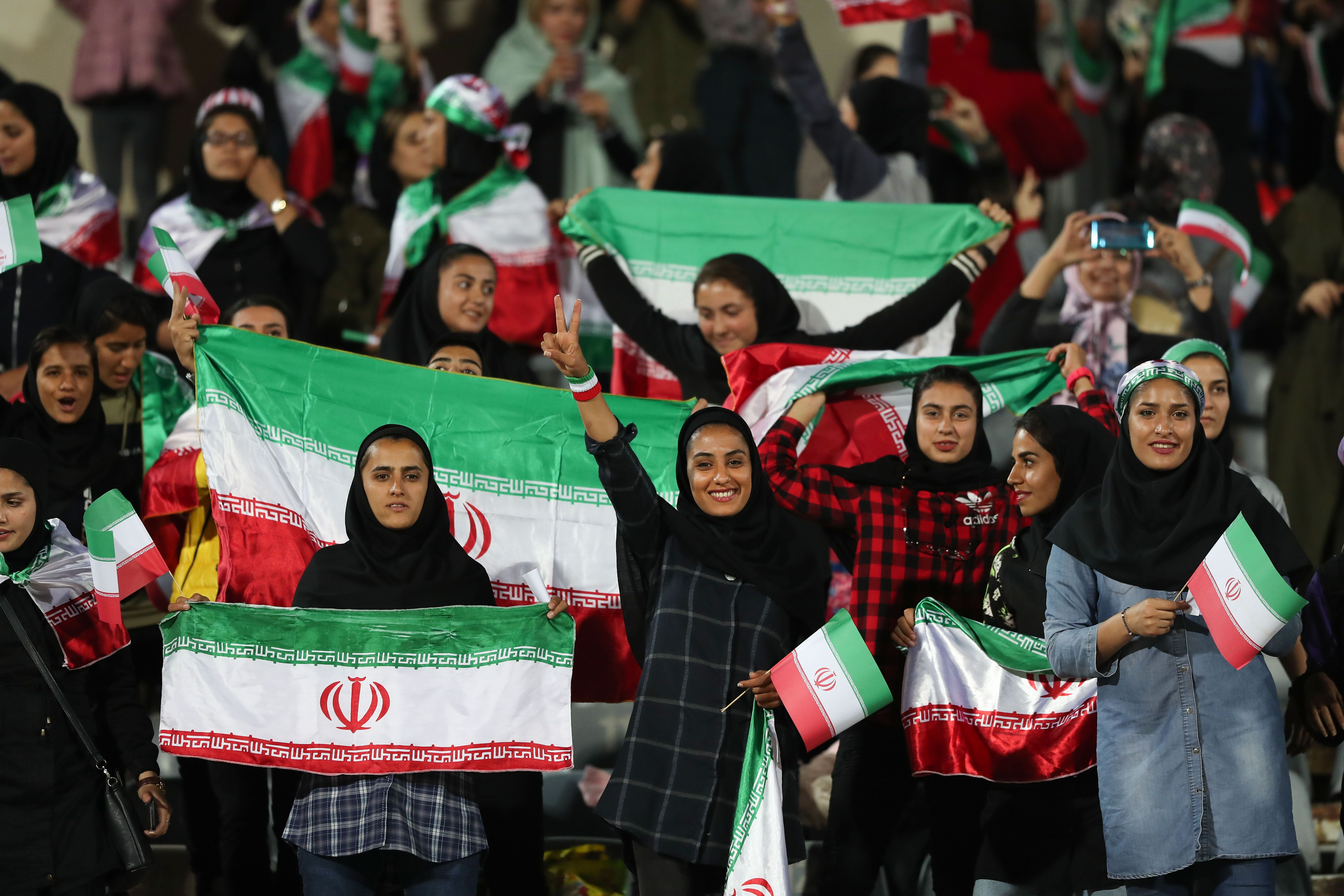 Female soccer fans in Iran