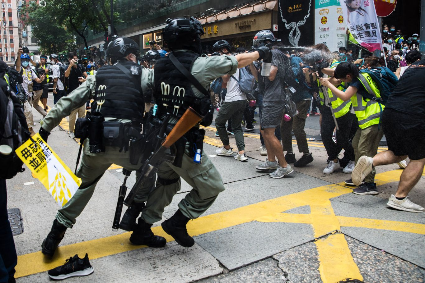 Hong Kong police make first security law arrest thumbnail