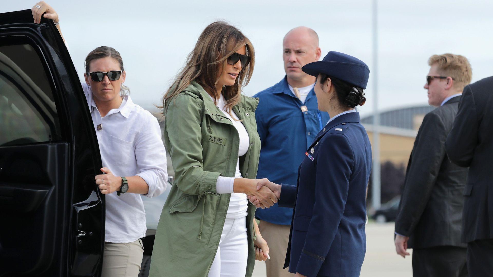 Melania Trump at the border