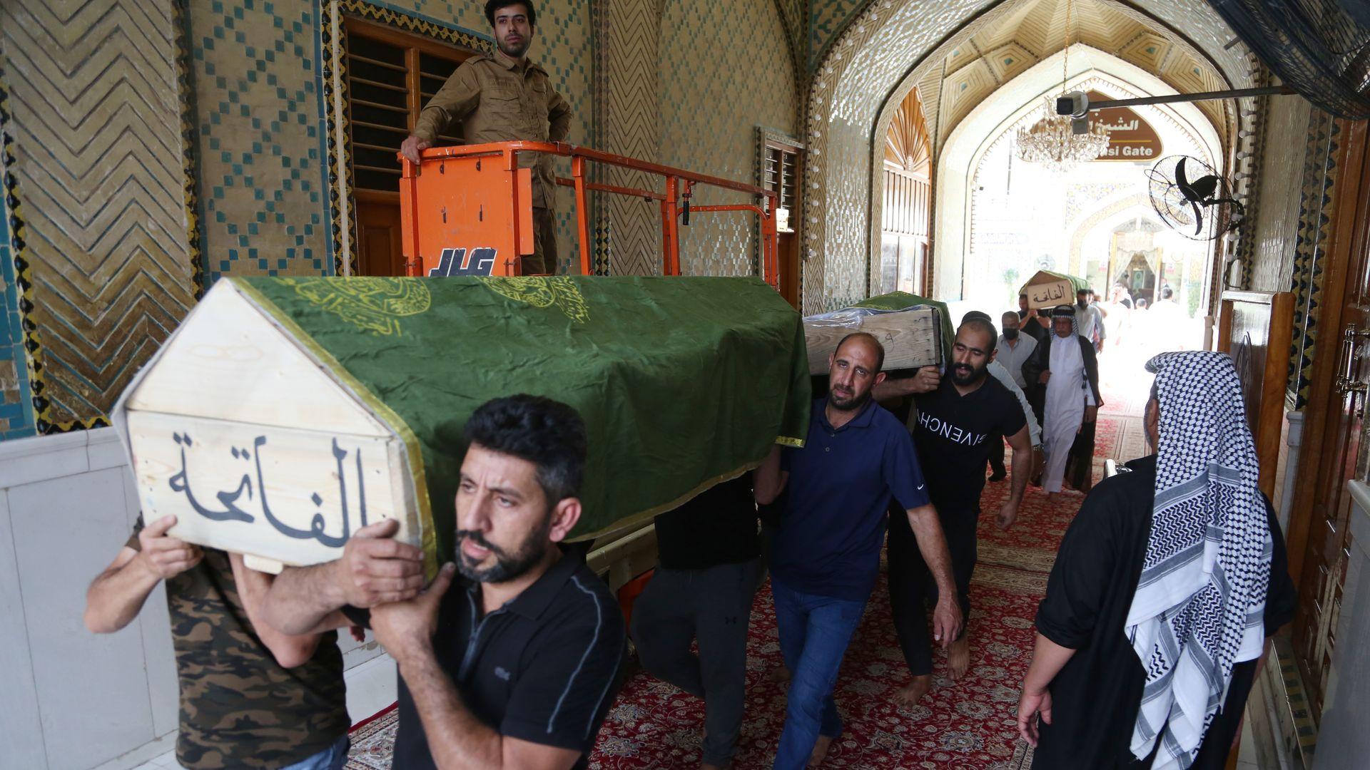 Baghdad hospital fire kills 82: Iraq PM orders investigation - Axios