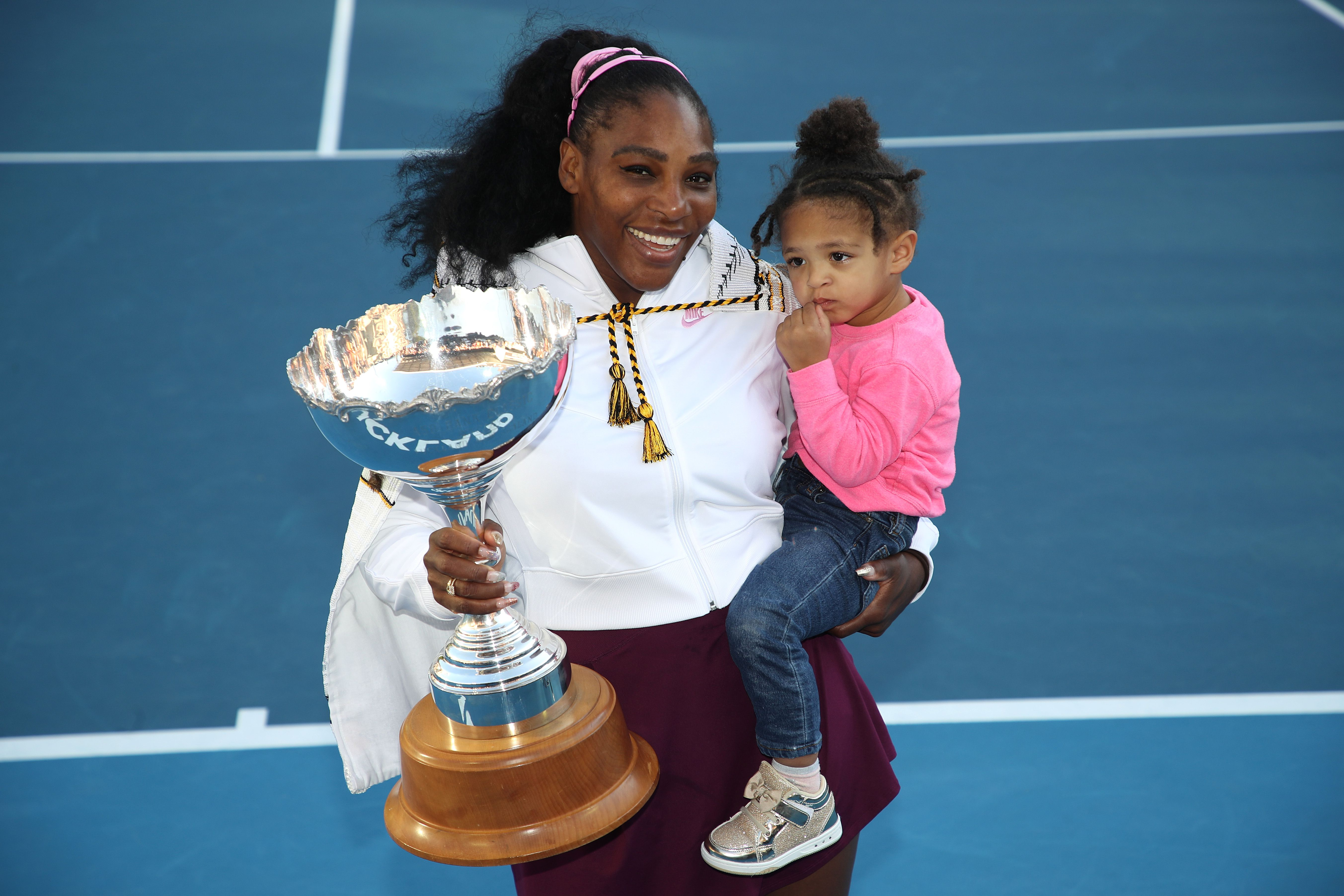 Serena Williams with her daughter