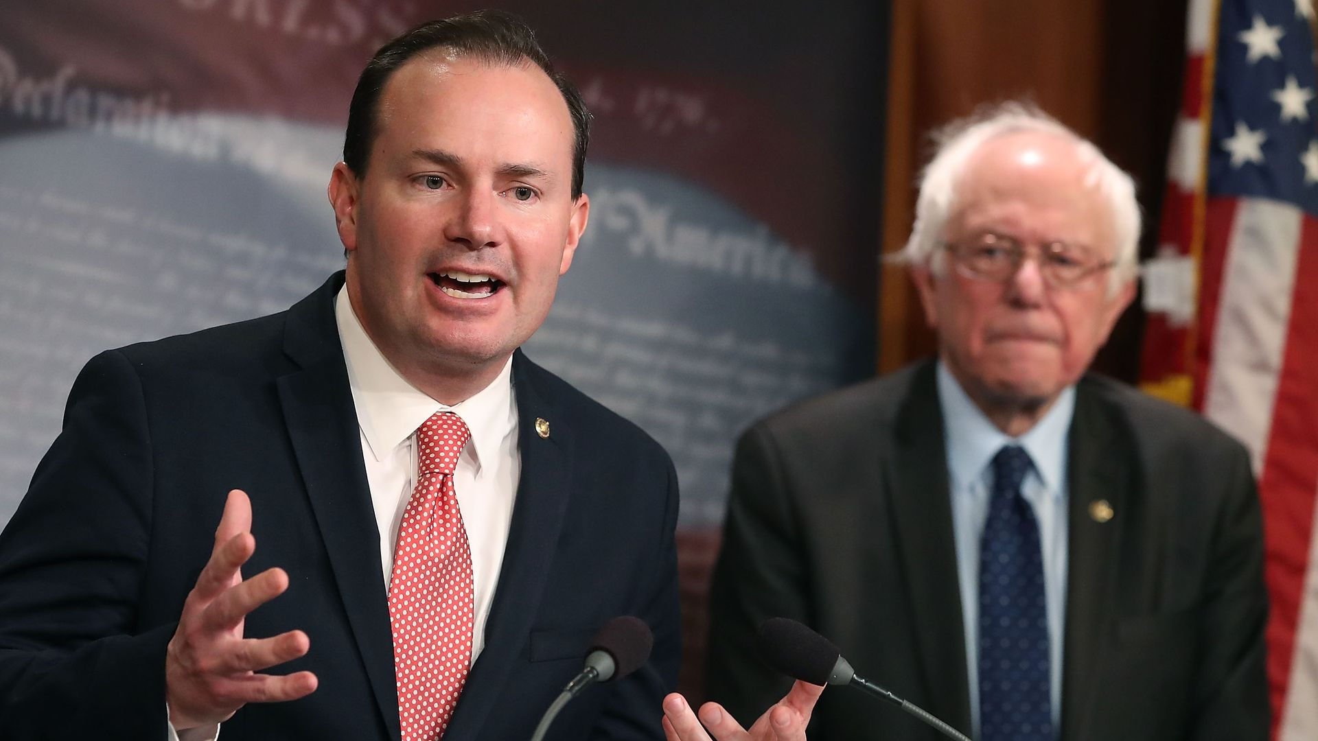 Sen. Mike Lee and Sen. Bernie Sanders introduce a joint resolution to remove U.S. armed forces from Yemen.
