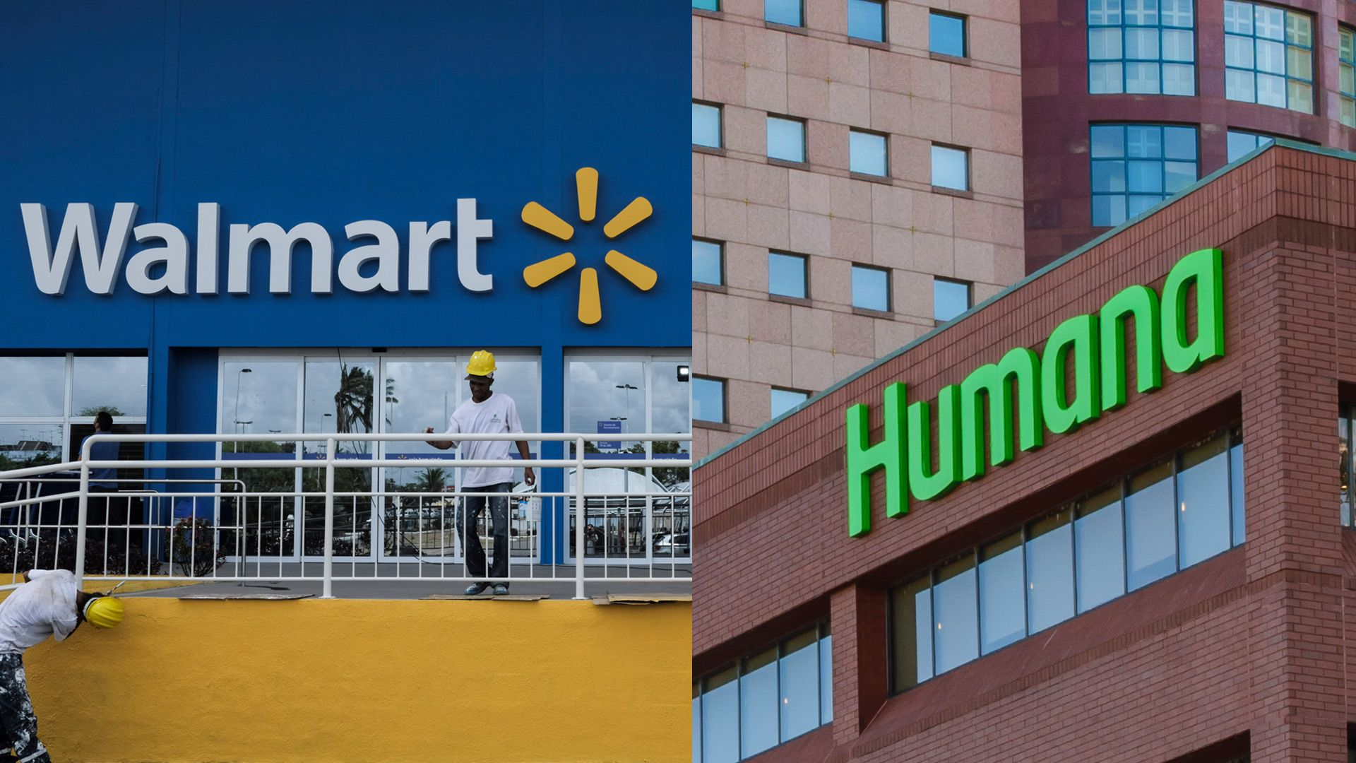 A Walmart store and Humana headquarters.