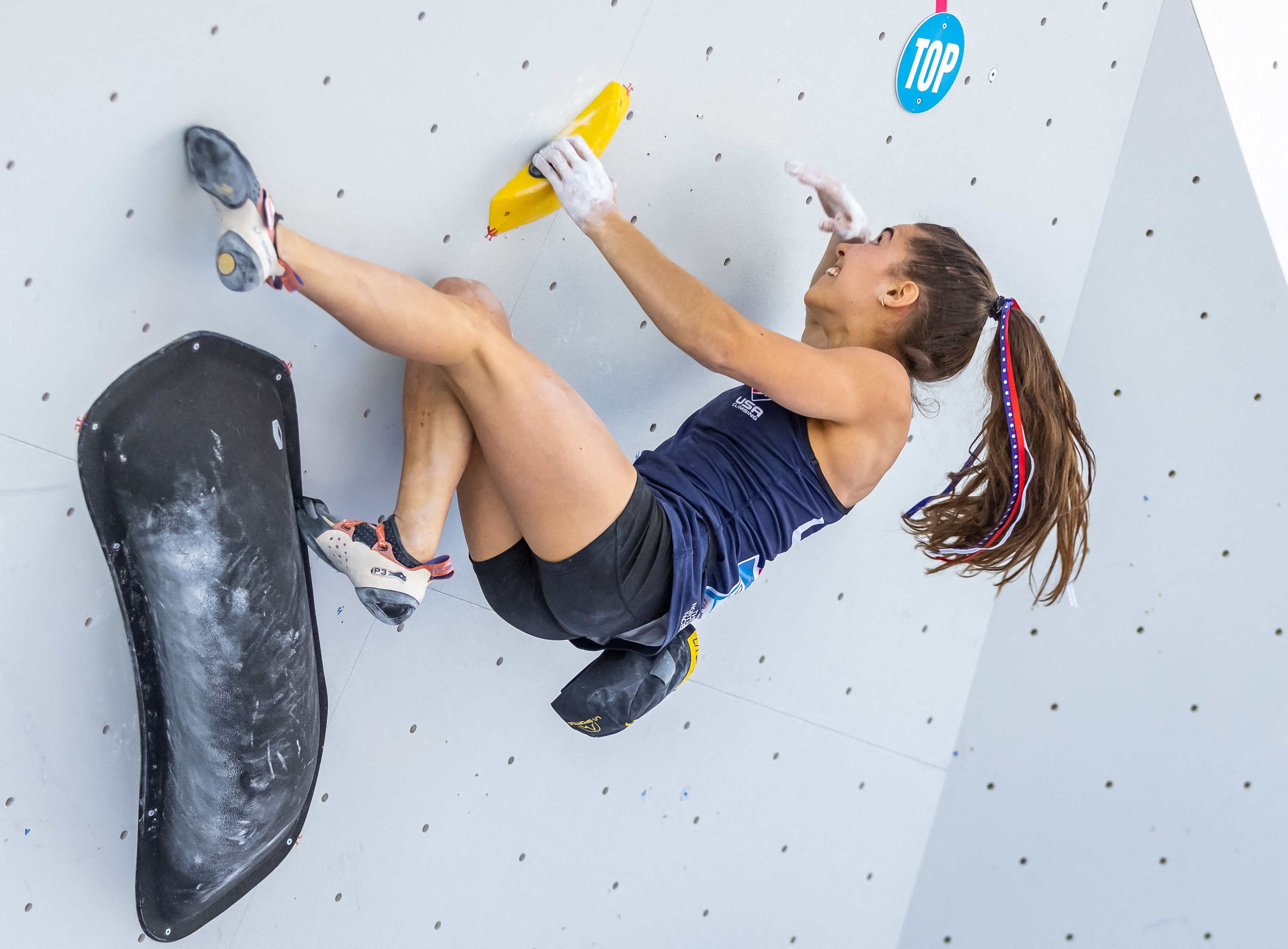 Brooke Raboutou at the Climbing World Cup in June.