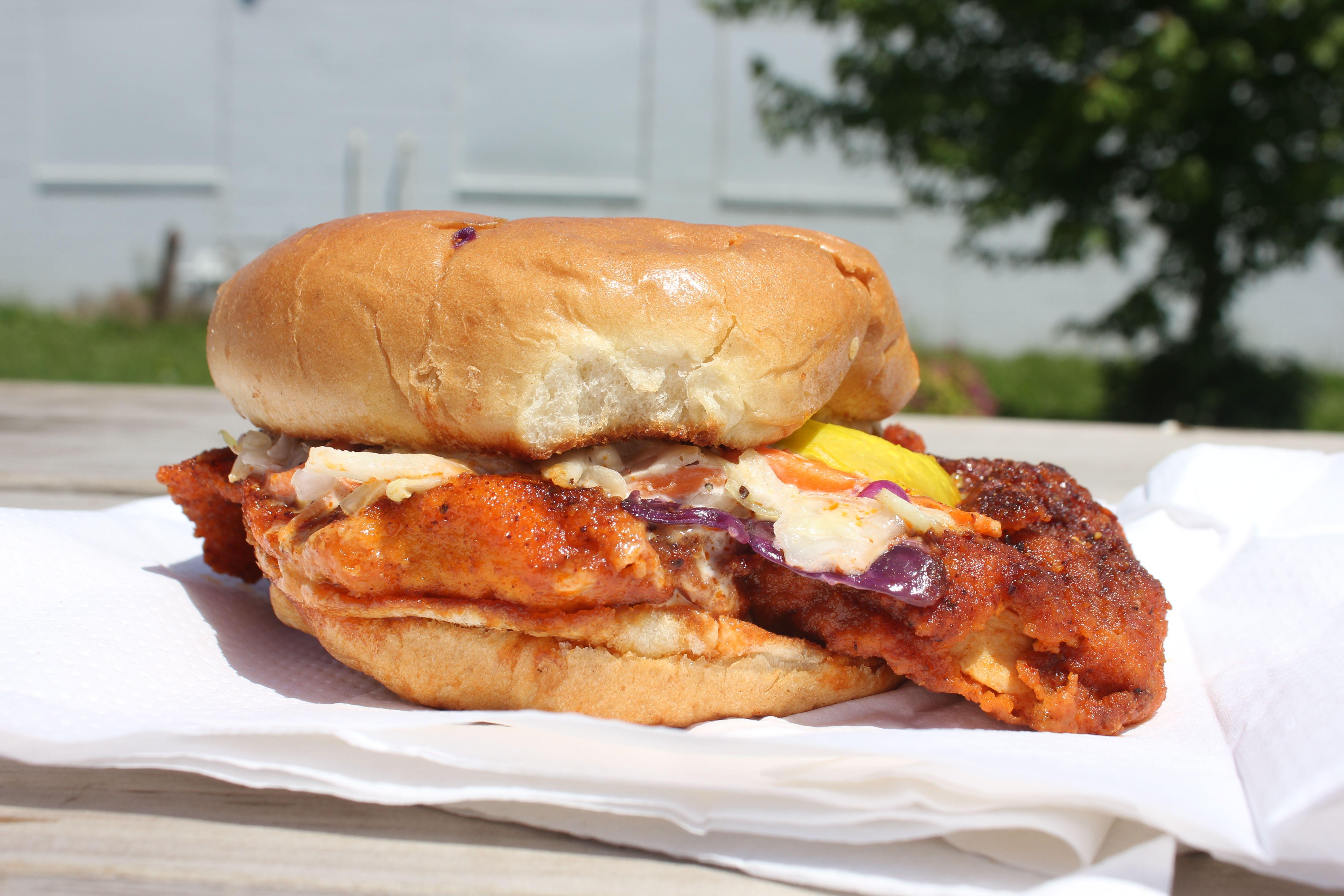 The Challenge sandwich by Chicken Heat.