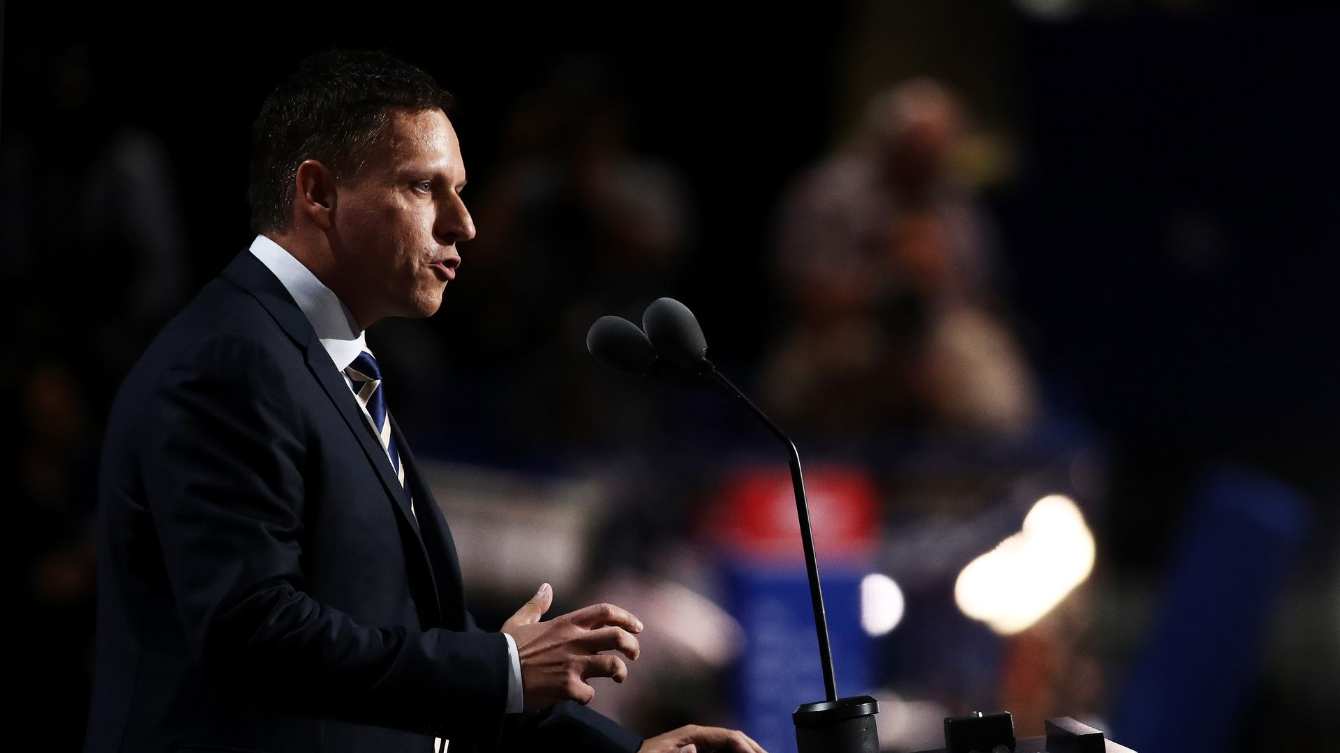 Peter Thiel speaking at the National Republican Convention