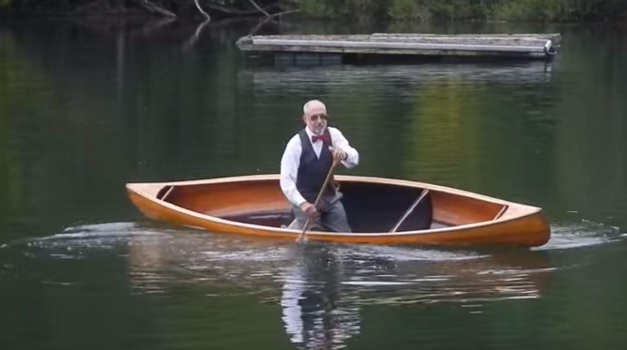 A man in a canoe
