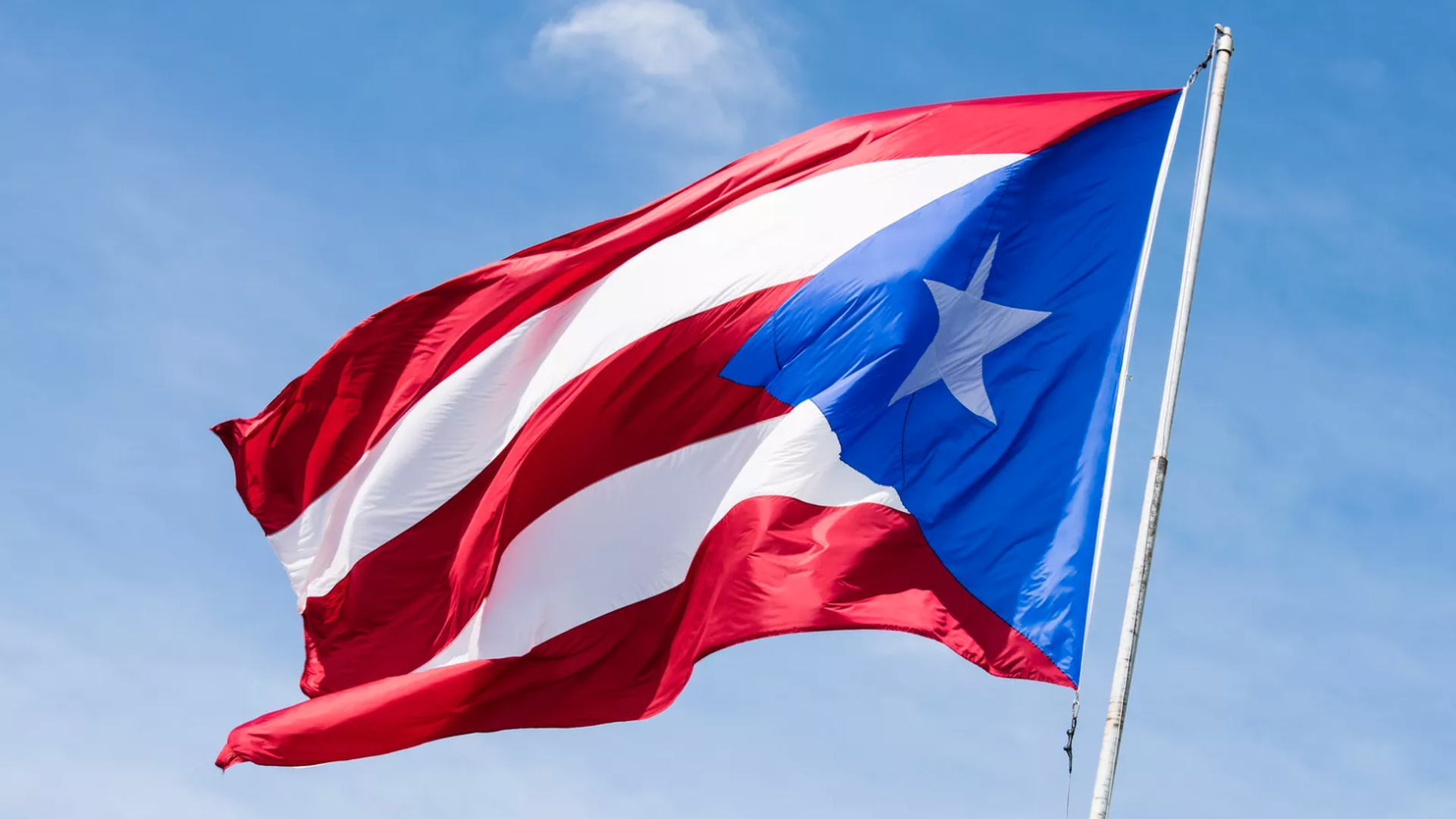 The Puerto Rico flag.