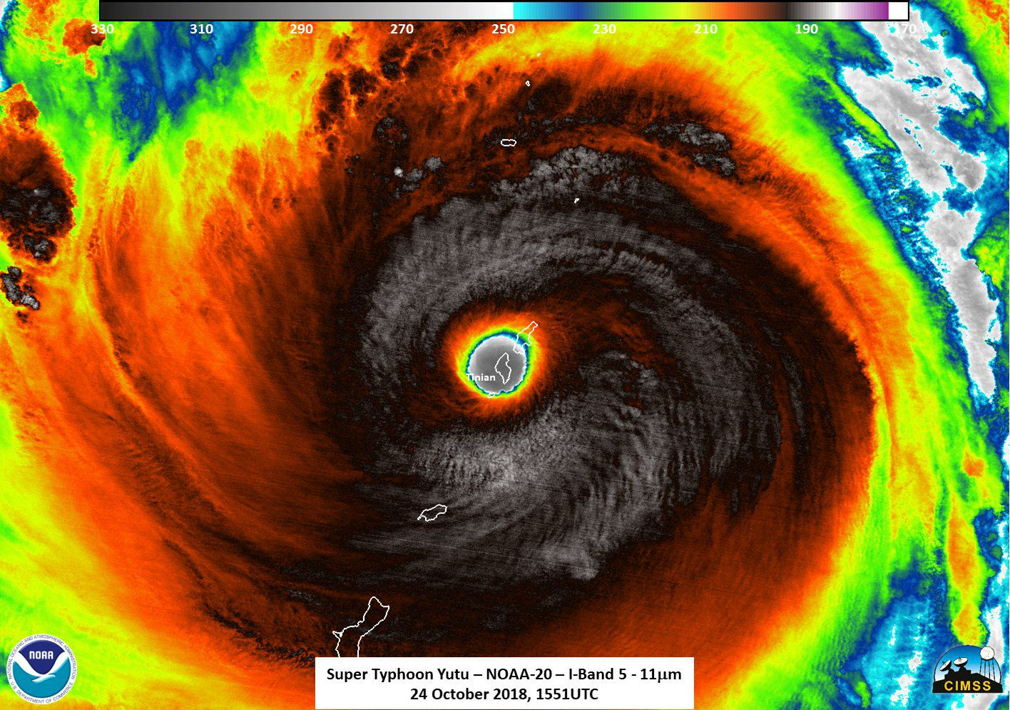 Satellite photos reveal the wrath of one of Earth's strongest storms - Axios