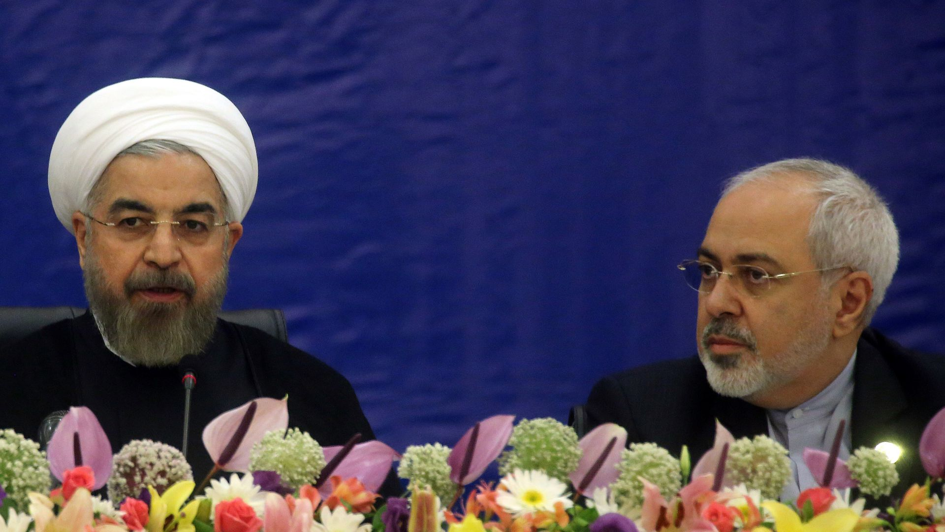 Iranian President Hassan Rouhani and Foreign Minister Javad Zarif