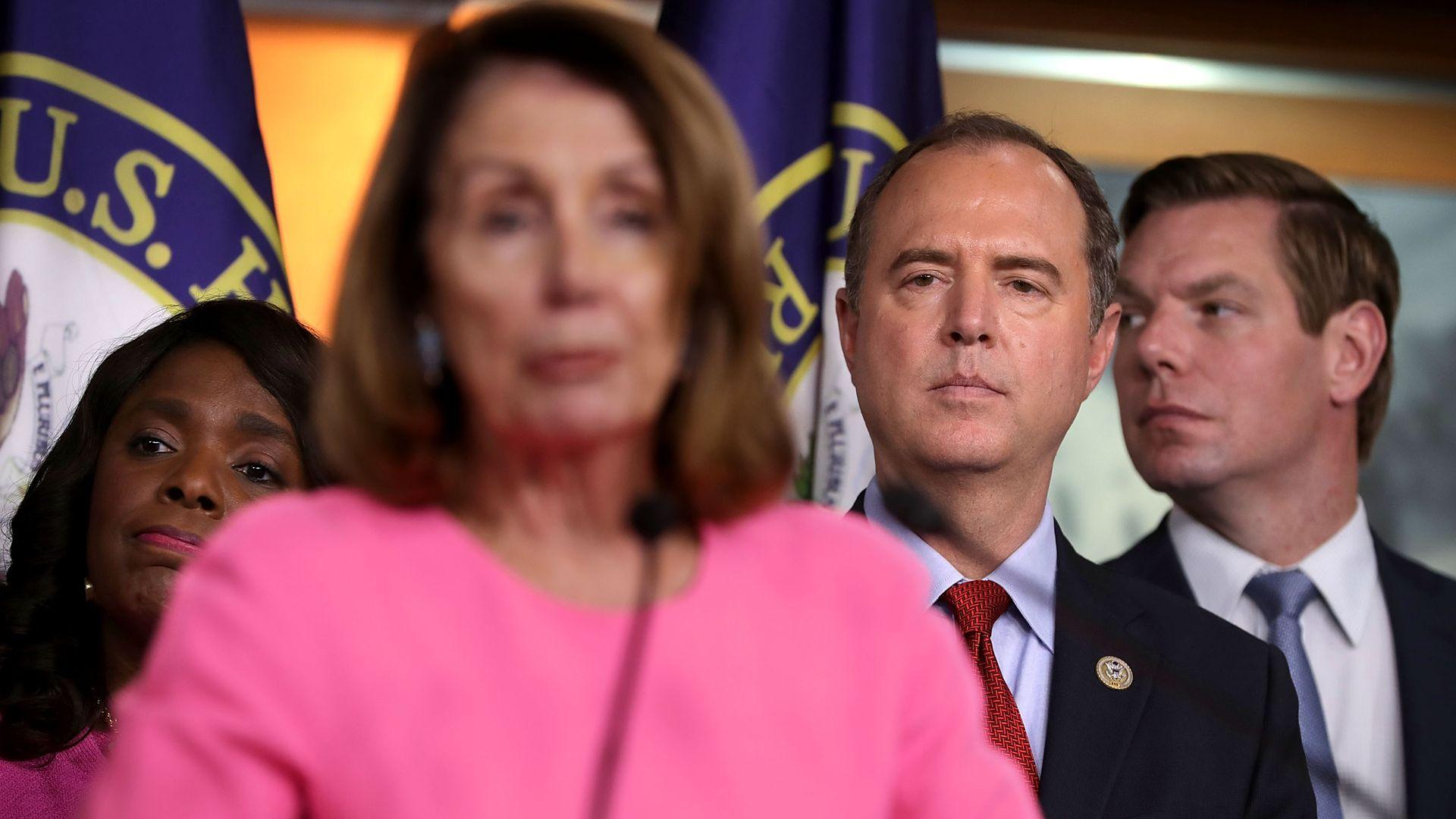 Nancy Pelosi, Adam Schiff and Eric Swalwell