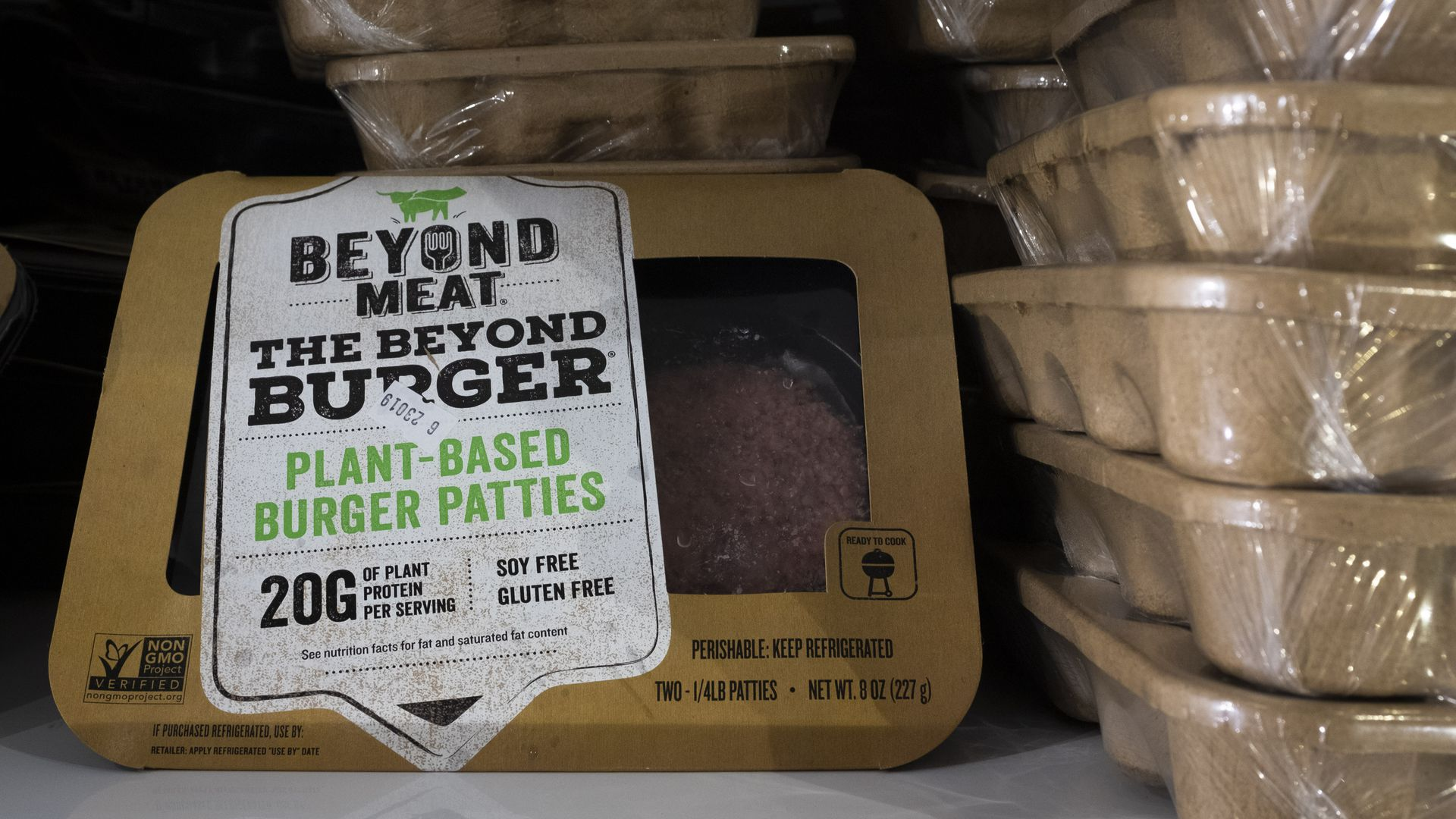 Beyond Meat packages.