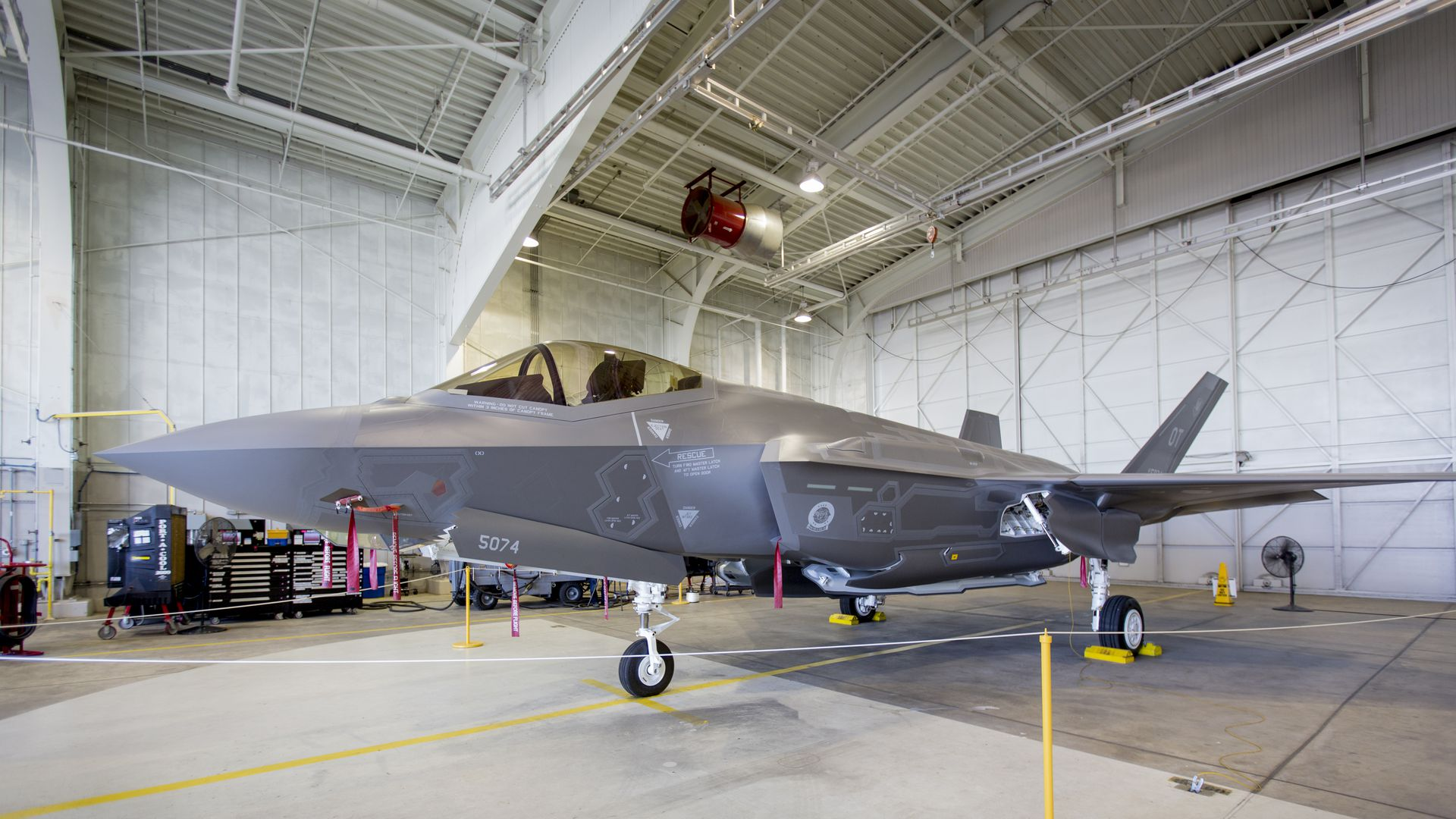 The U.S. has halted delivery of F-35 fighter jet parts to Turkey.