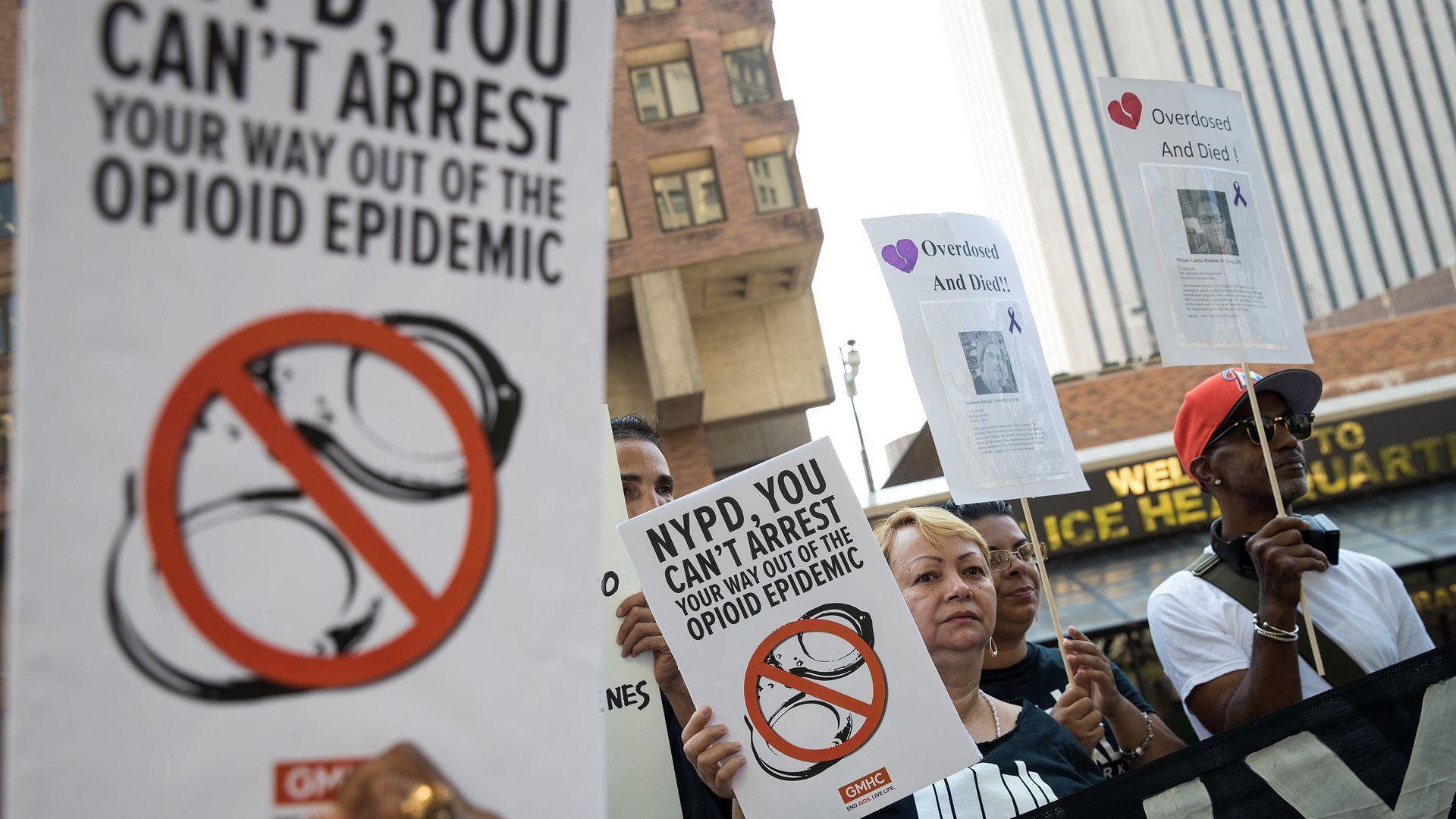 Criminal justice reform protestors