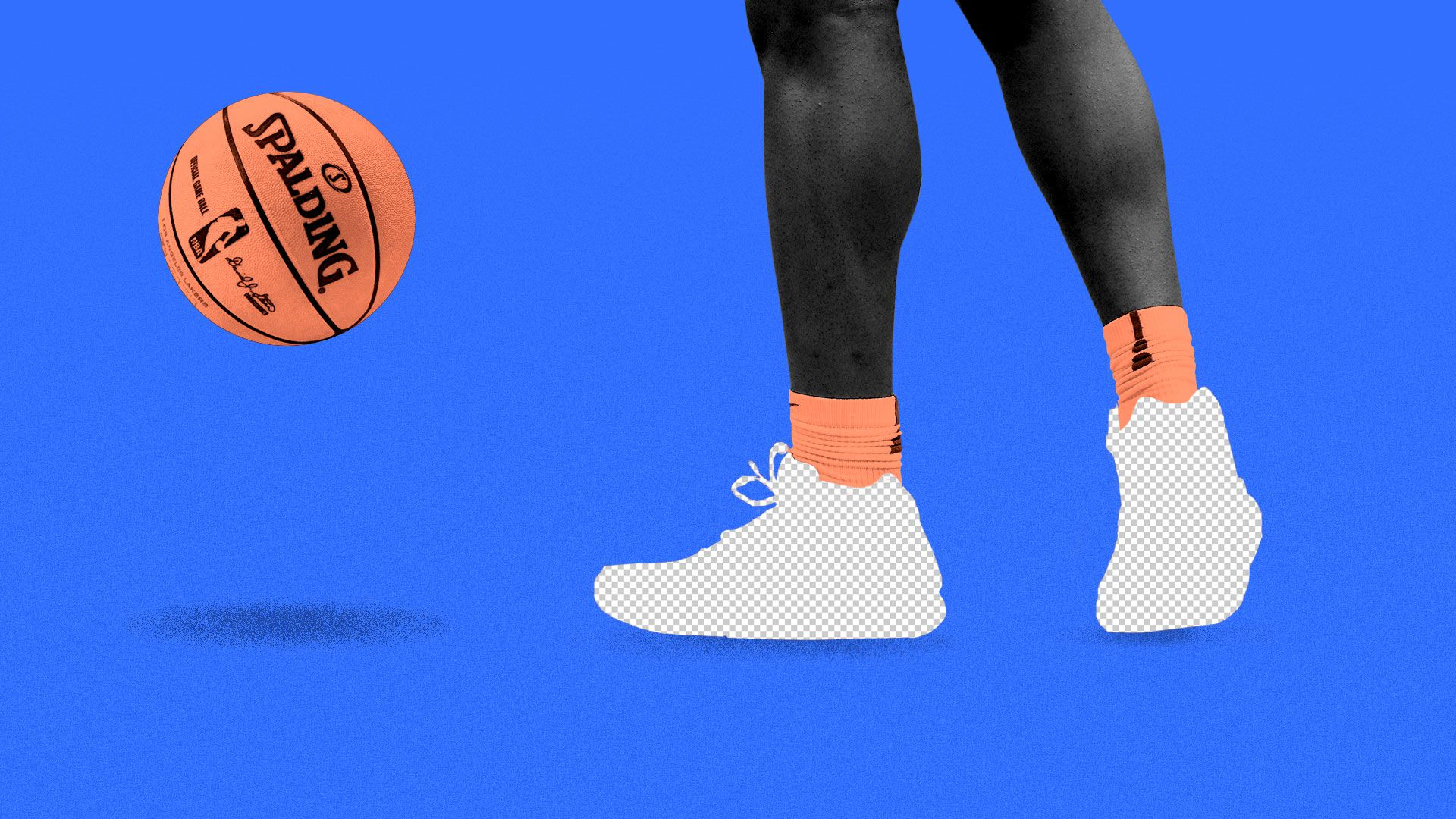 Illustration of Zion Williamson's shoes as empty backgrounds